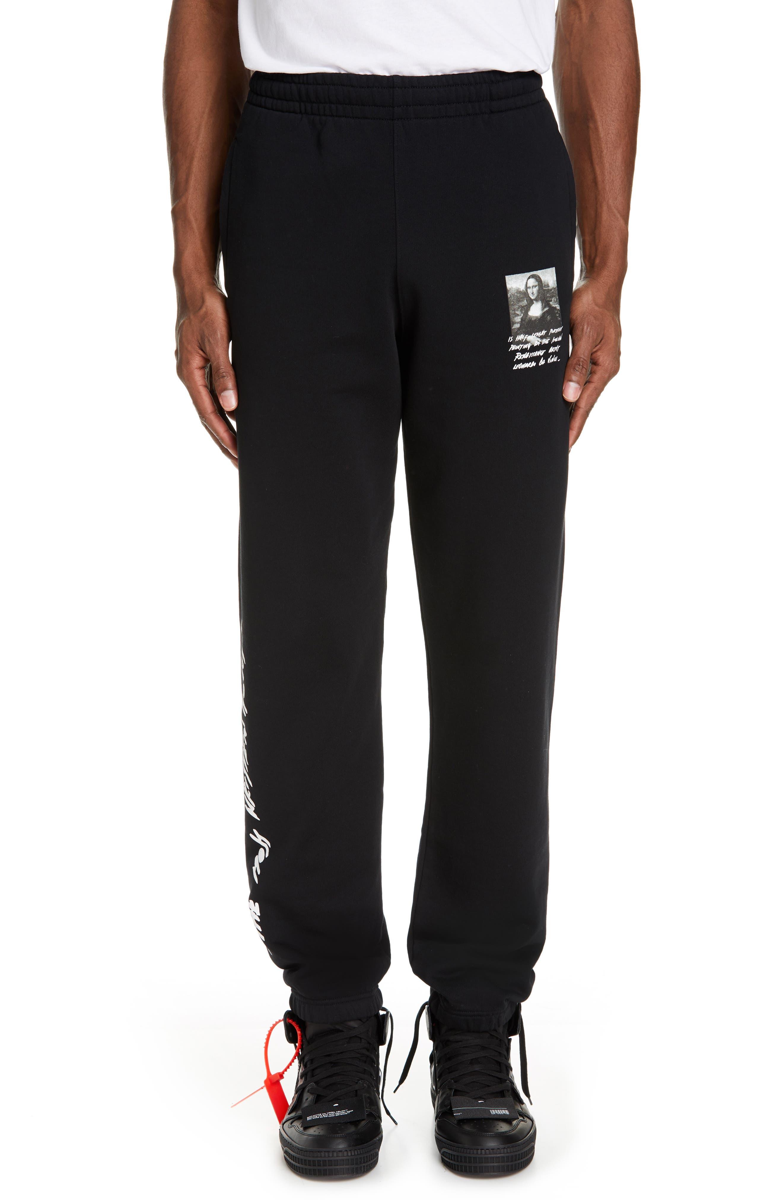 Monnalisa Slim Sweatpants, Main, color, BLACK