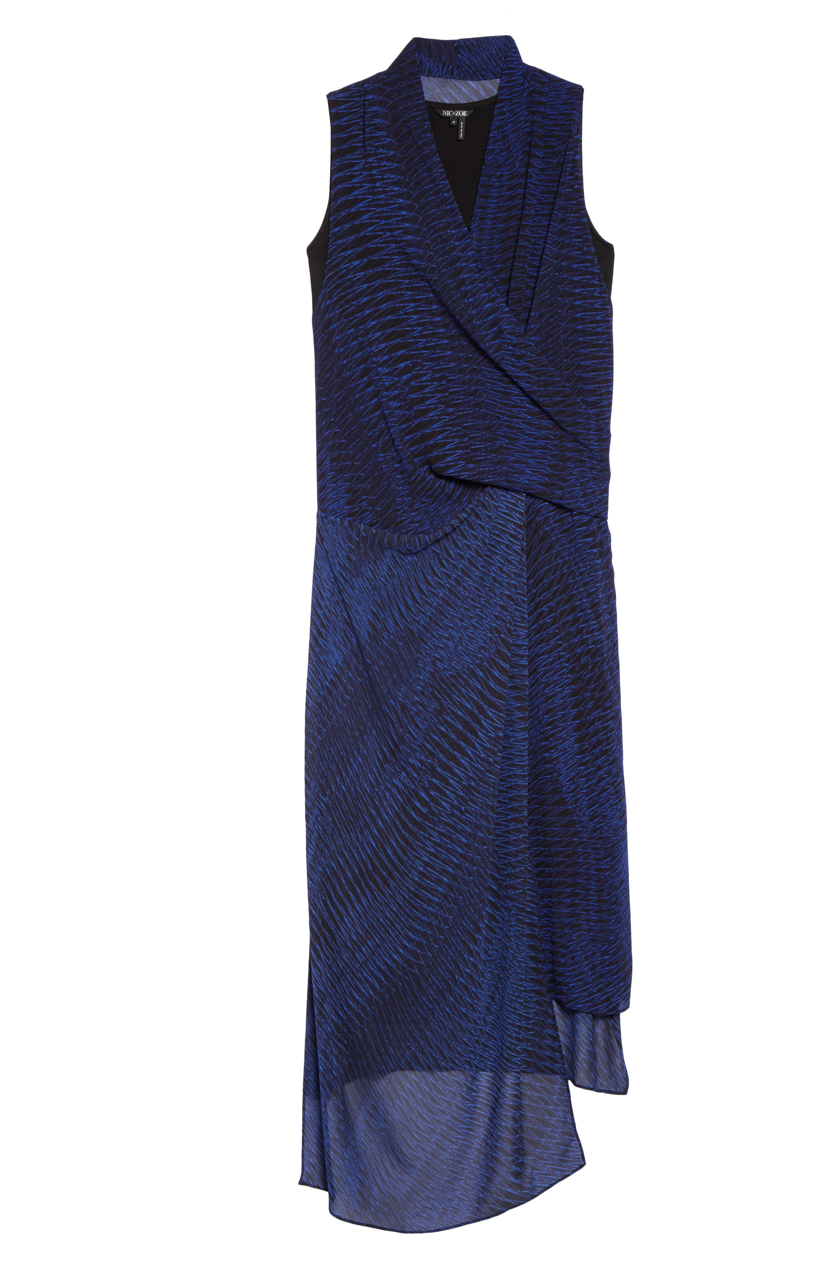 Blue Streaks Midi Dress,                             Alternate thumbnail 6, color,                             465