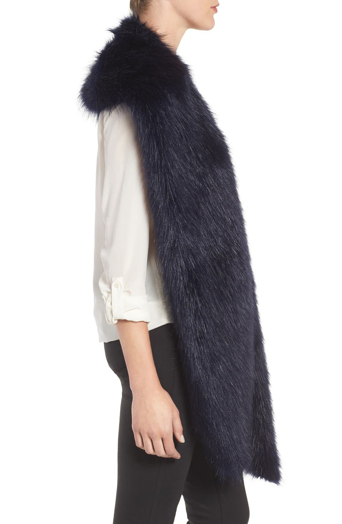 Faux Mink Stole,                             Alternate thumbnail 14, color,