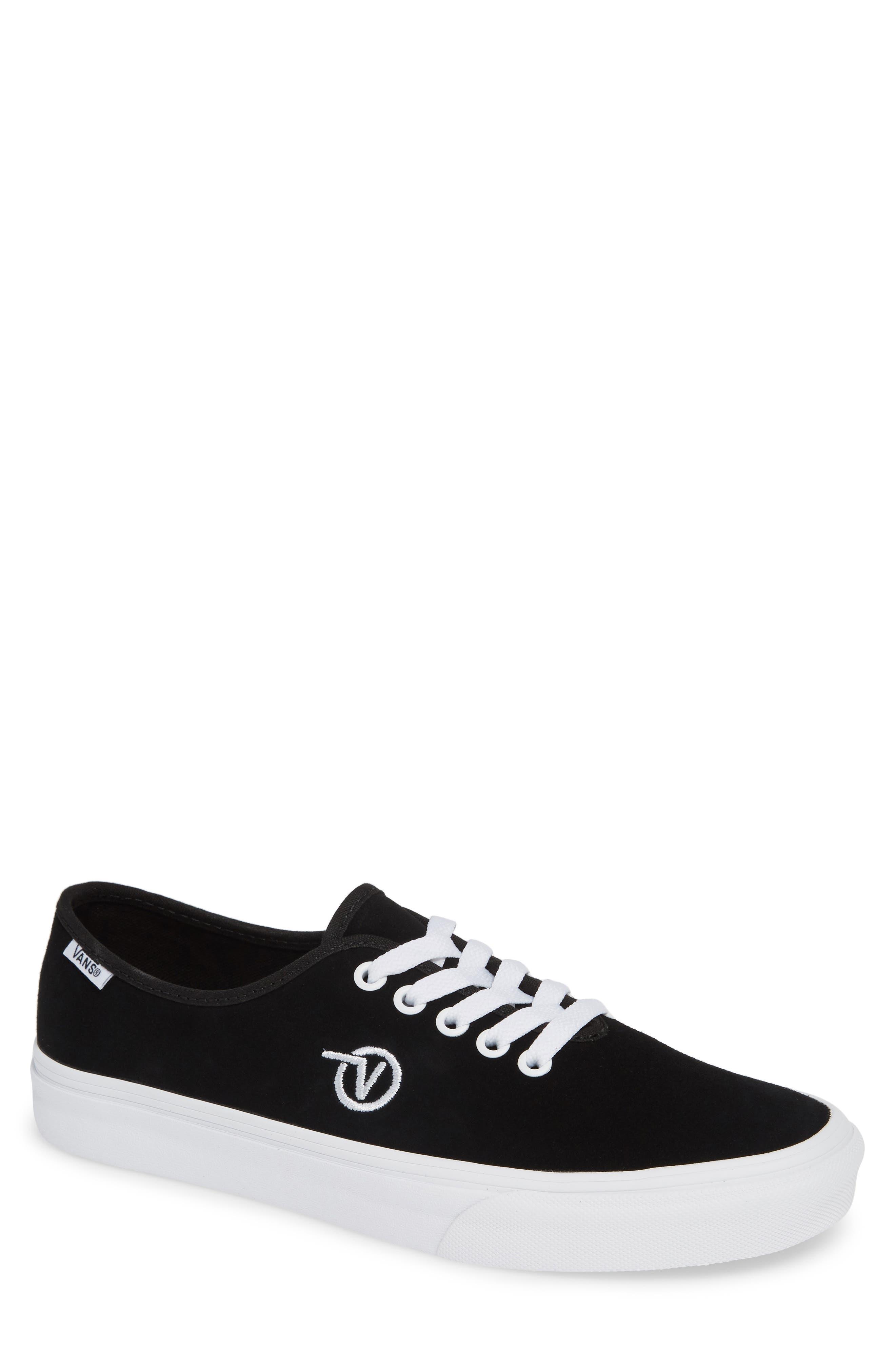 Authentic One-Piece Sneaker,                         Main,                         color, BLACK/ SUEDE