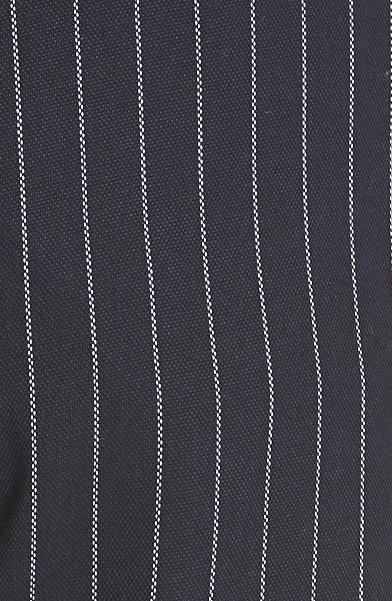 Pinstripe Crop Wide-Leg Pants,                             Alternate thumbnail 6, color,                             INDIGO