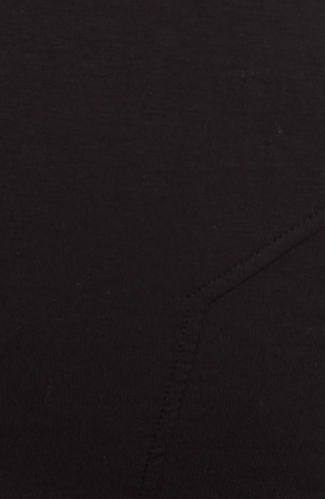 'Villous' Zip Front Sweatshirt,                             Alternate thumbnail 3, color,                             001