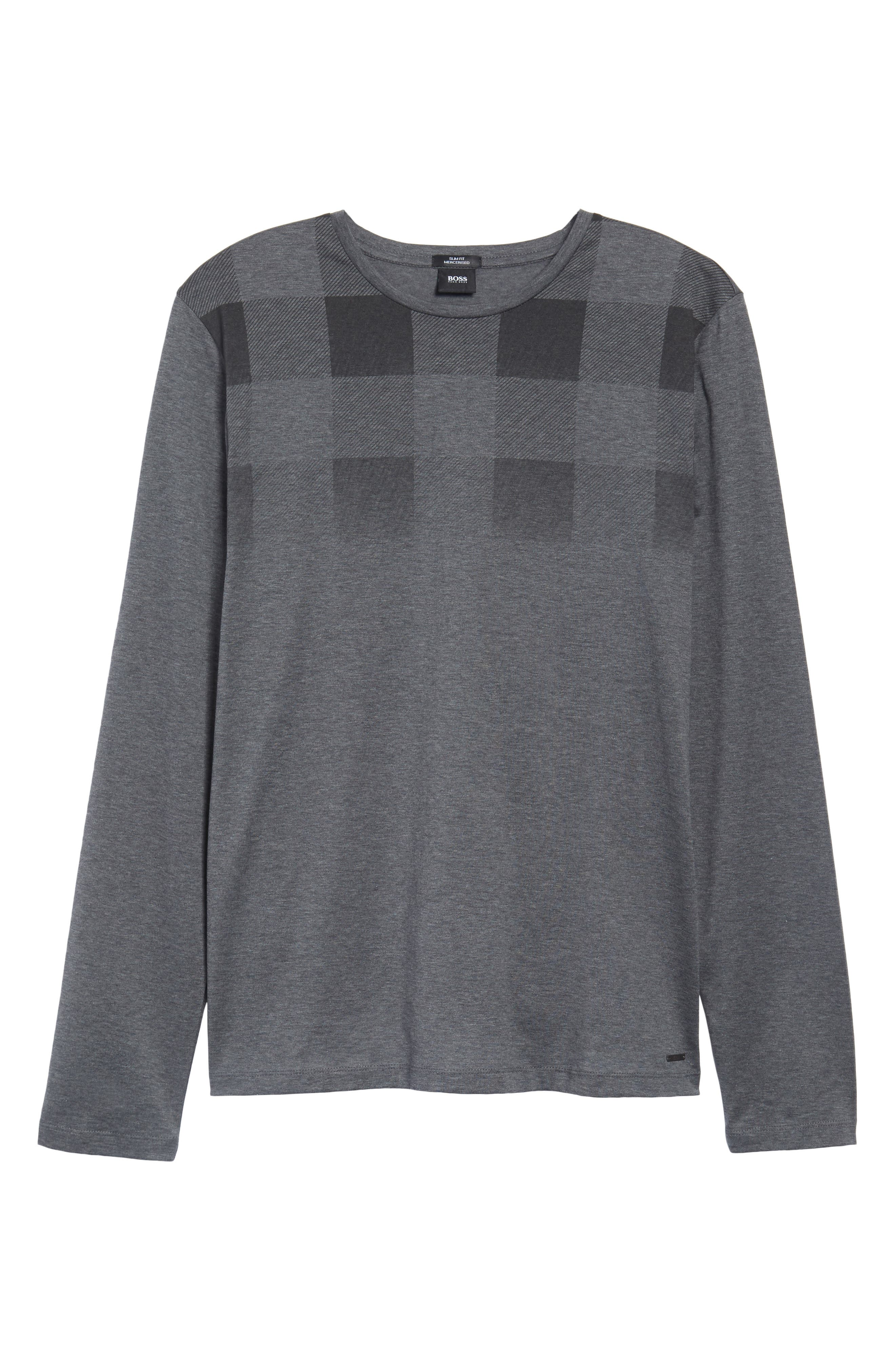 Tenison Slim Fit Ombre Check Long Sleeve T-shirt,                             Alternate thumbnail 6, color,                             030