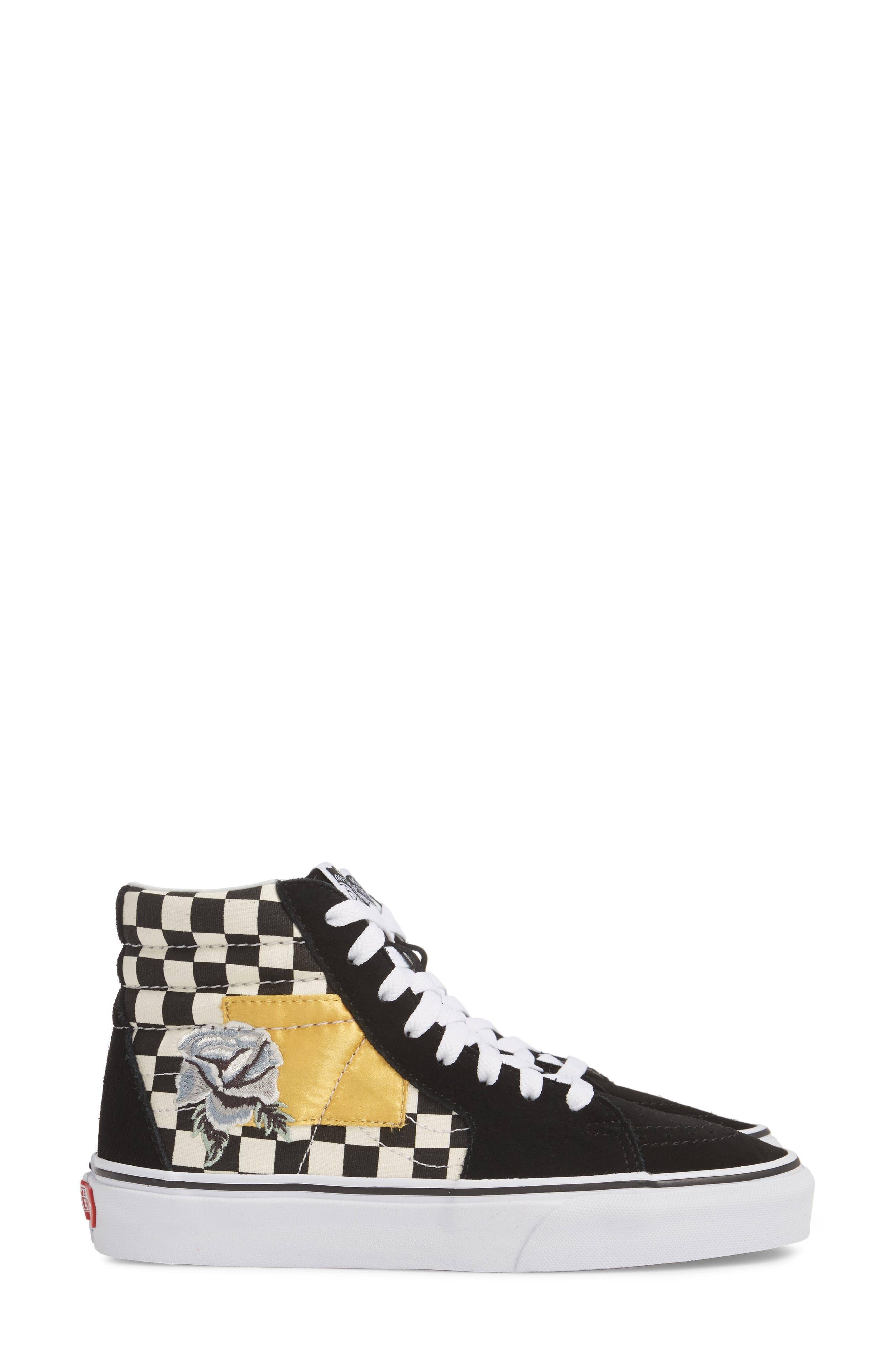 Sk8-Hi Checker Sneaker,                             Alternate thumbnail 4, color,                             003