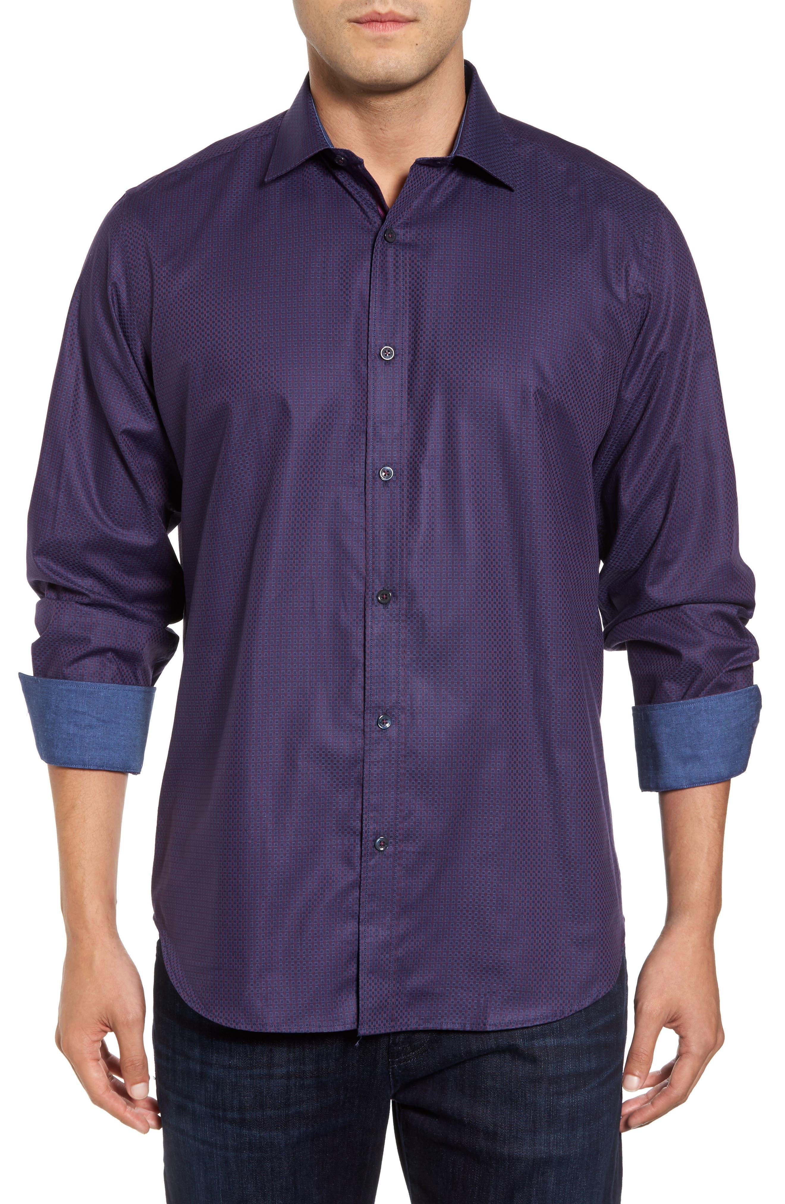 Classic Fit Print Sport Shirt,                         Main,                         color, 503