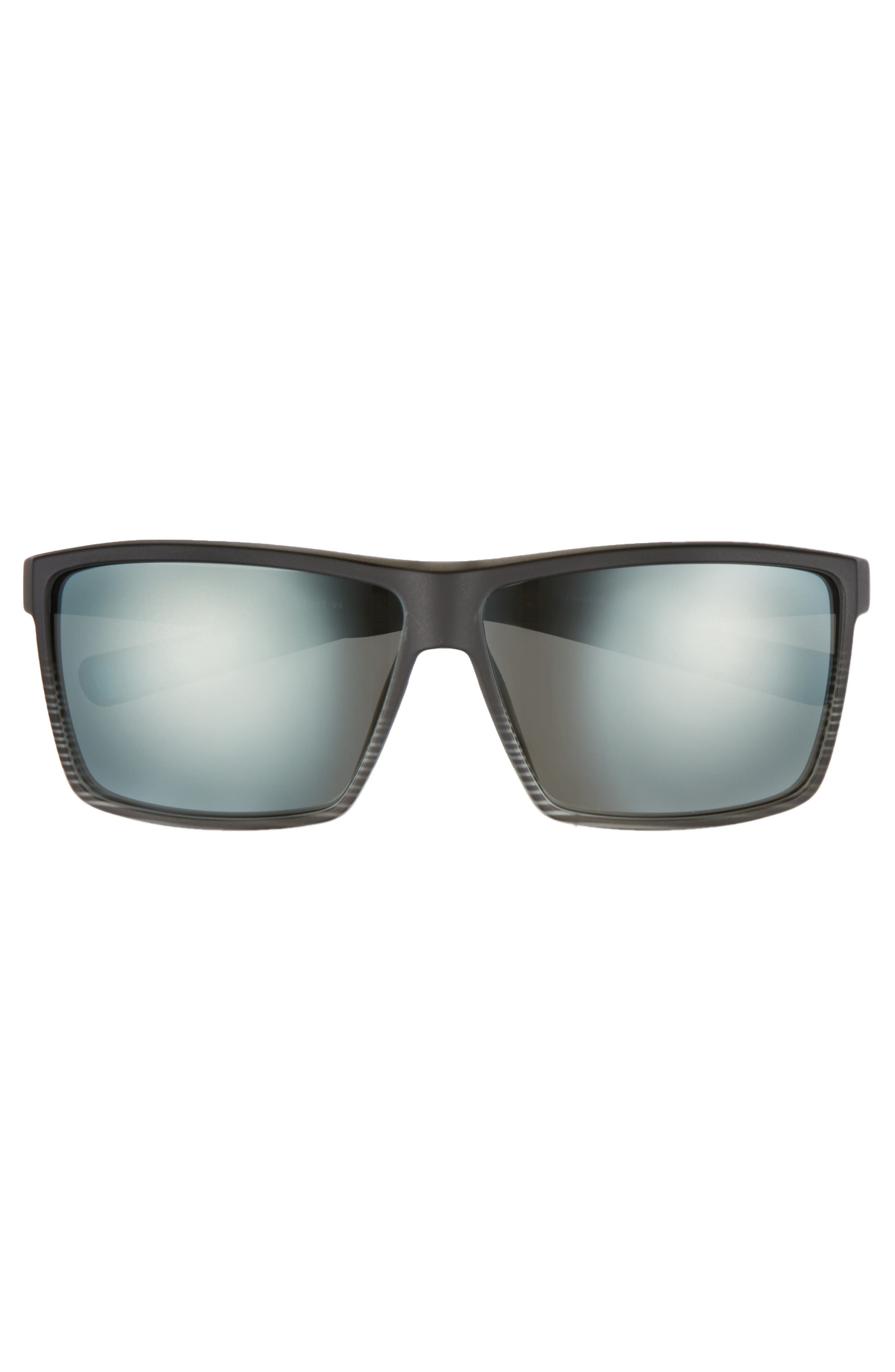 Rincon 60mm Polarized Sunglasses,                             Alternate thumbnail 2, color,                             SMOKE CRYSTAL/ SILVER MIRROR