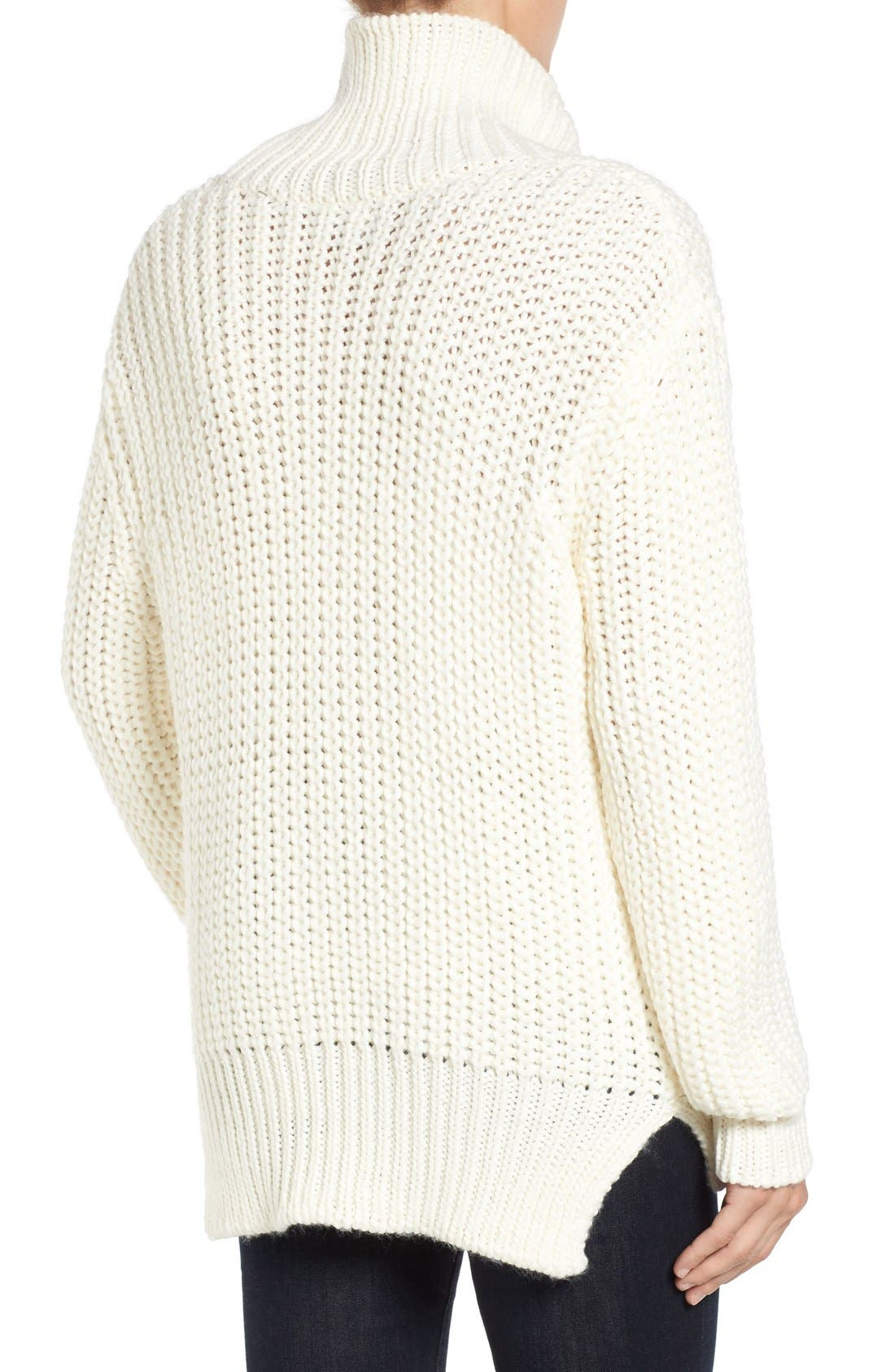 Knit Funnel Neck Sweater,                             Alternate thumbnail 5, color,                             907