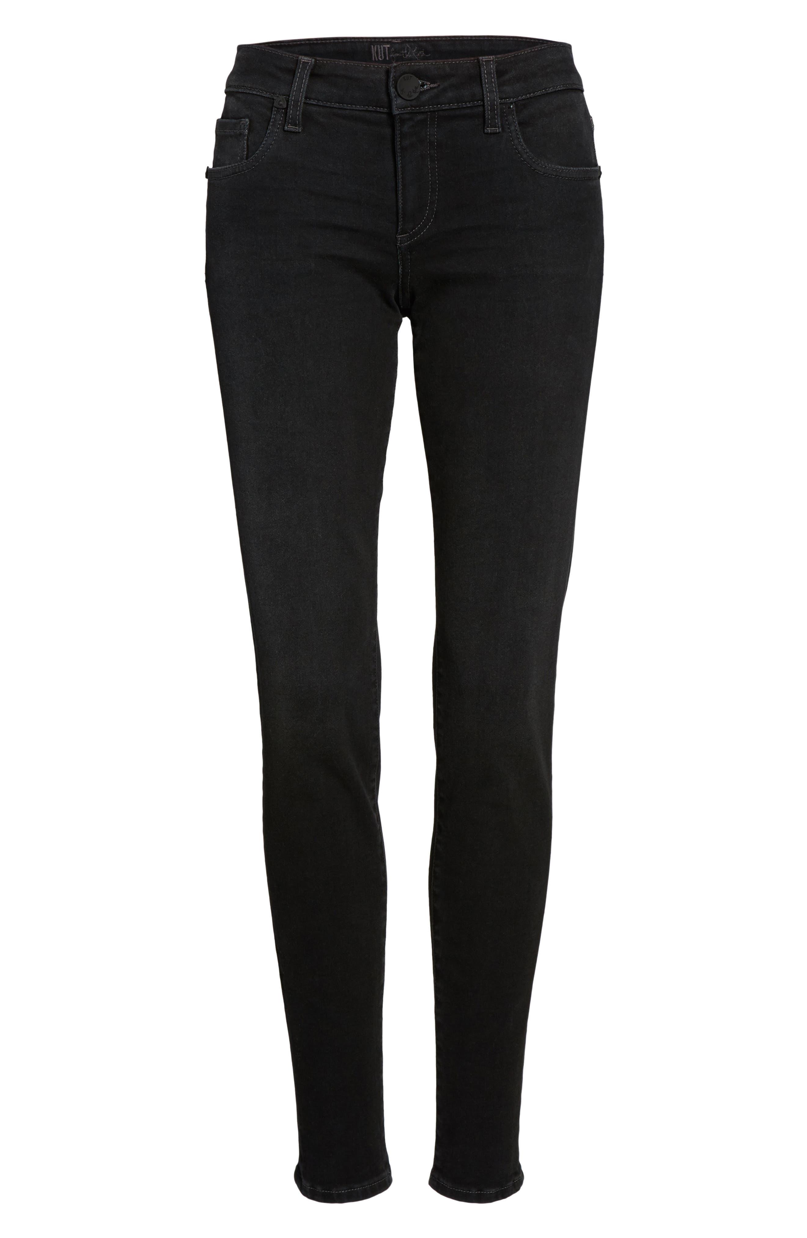 Donna Skinny Jeans,                             Alternate thumbnail 6, color,