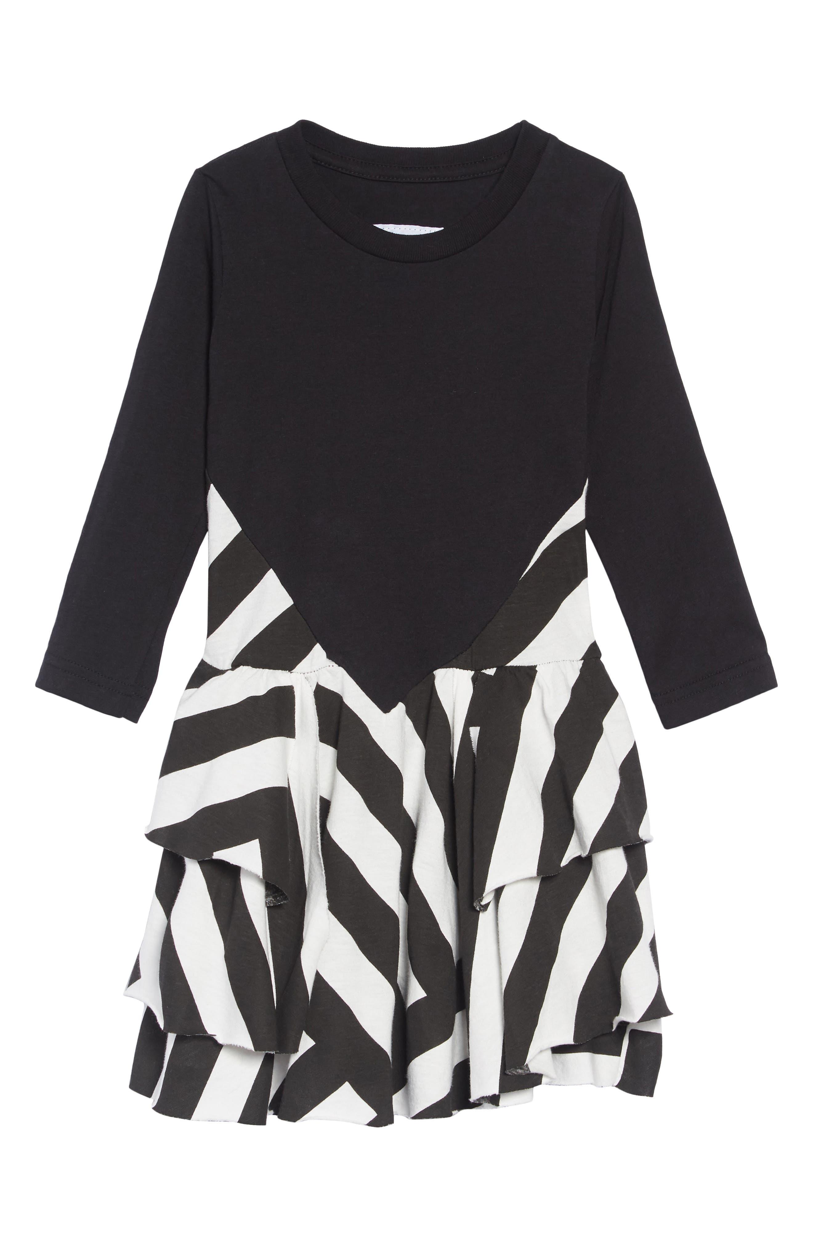 Stripe Dress,                             Main thumbnail 1, color,                             BLACK