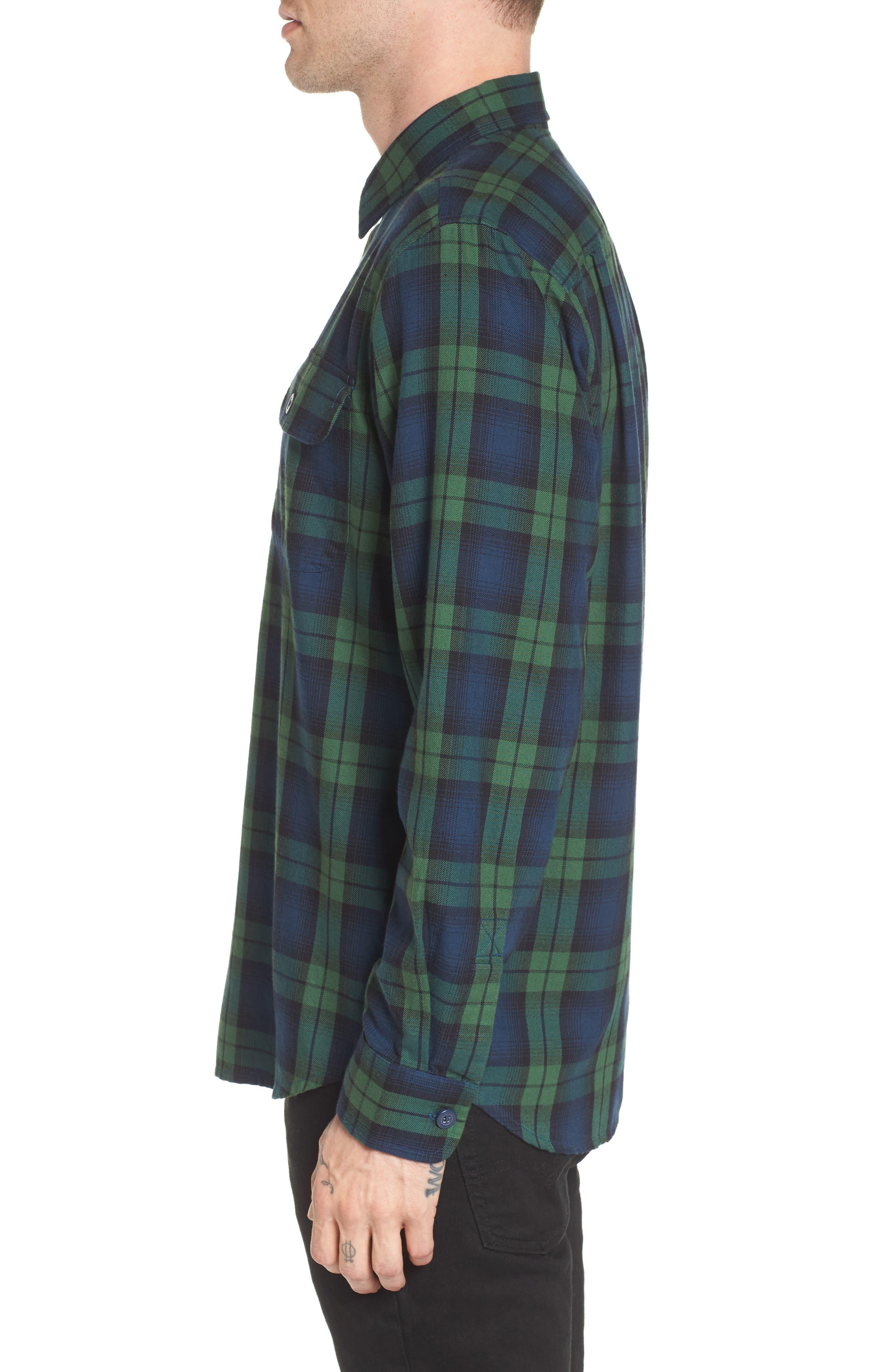 Norwich Plaid Woven Shirt,                             Alternate thumbnail 3, color,                             303