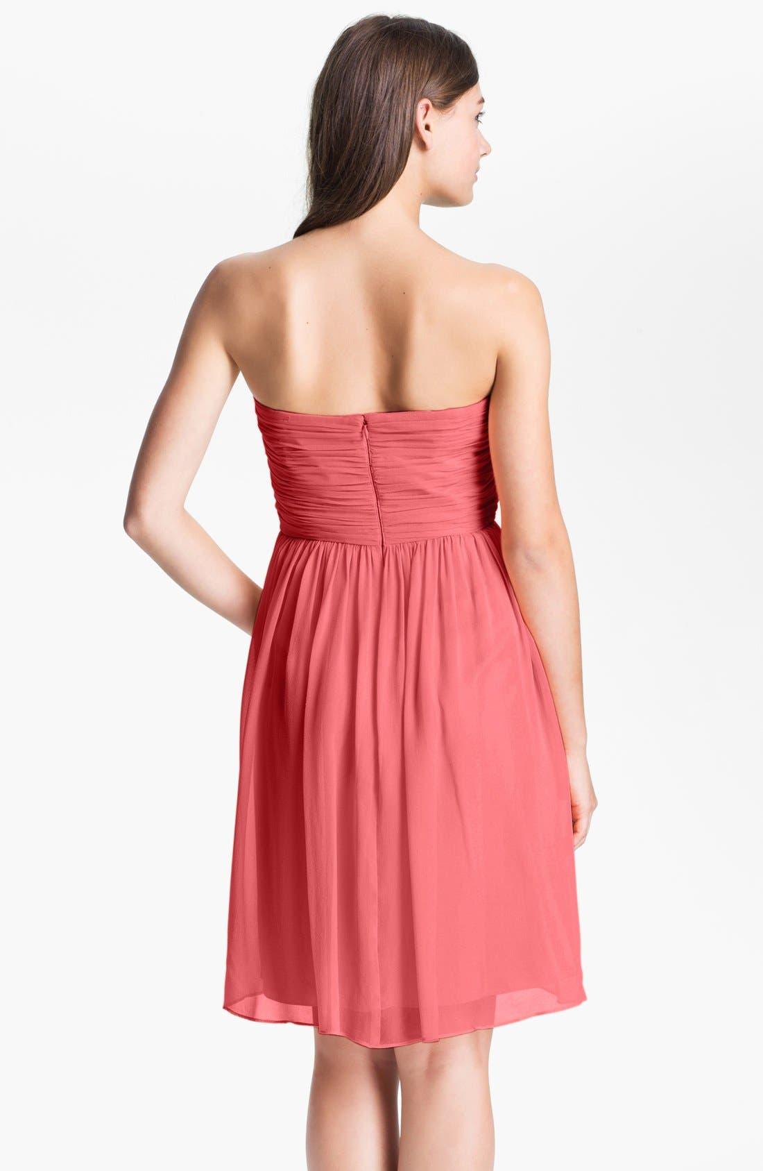 'Morgan' Strapless Silk Chiffon Dress,                             Alternate thumbnail 71, color,