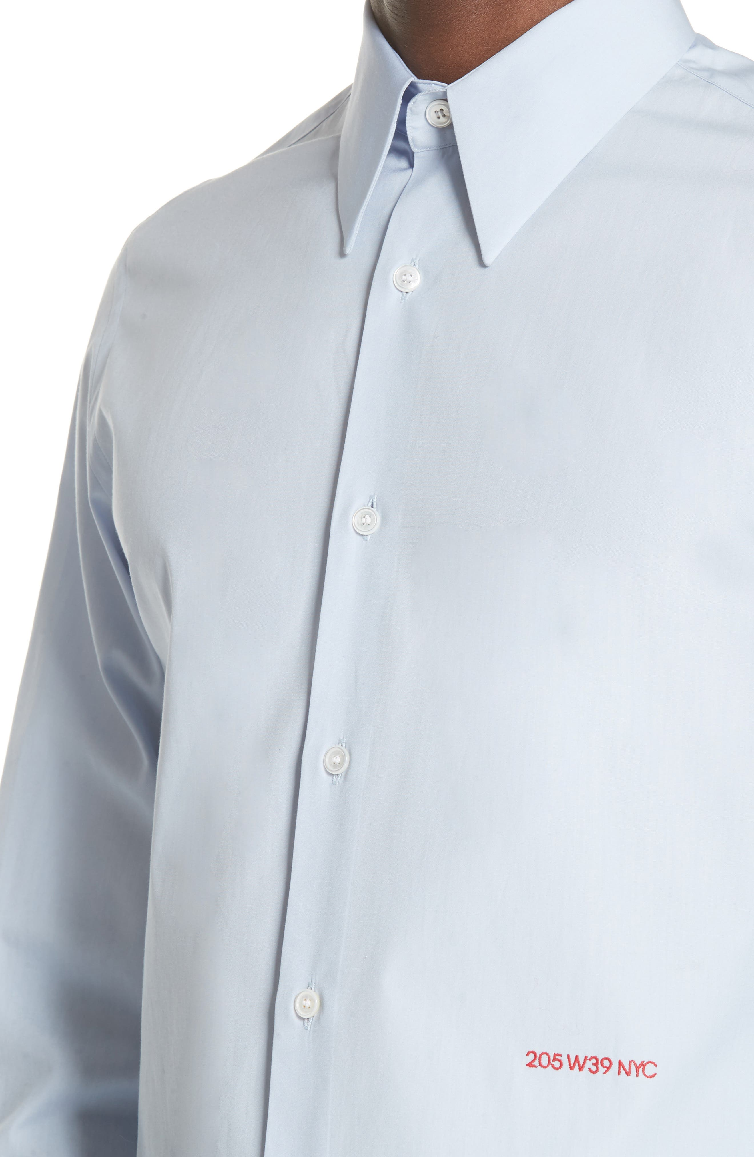 Poplin Shirt,                             Alternate thumbnail 4, color,                             BABY BLUE