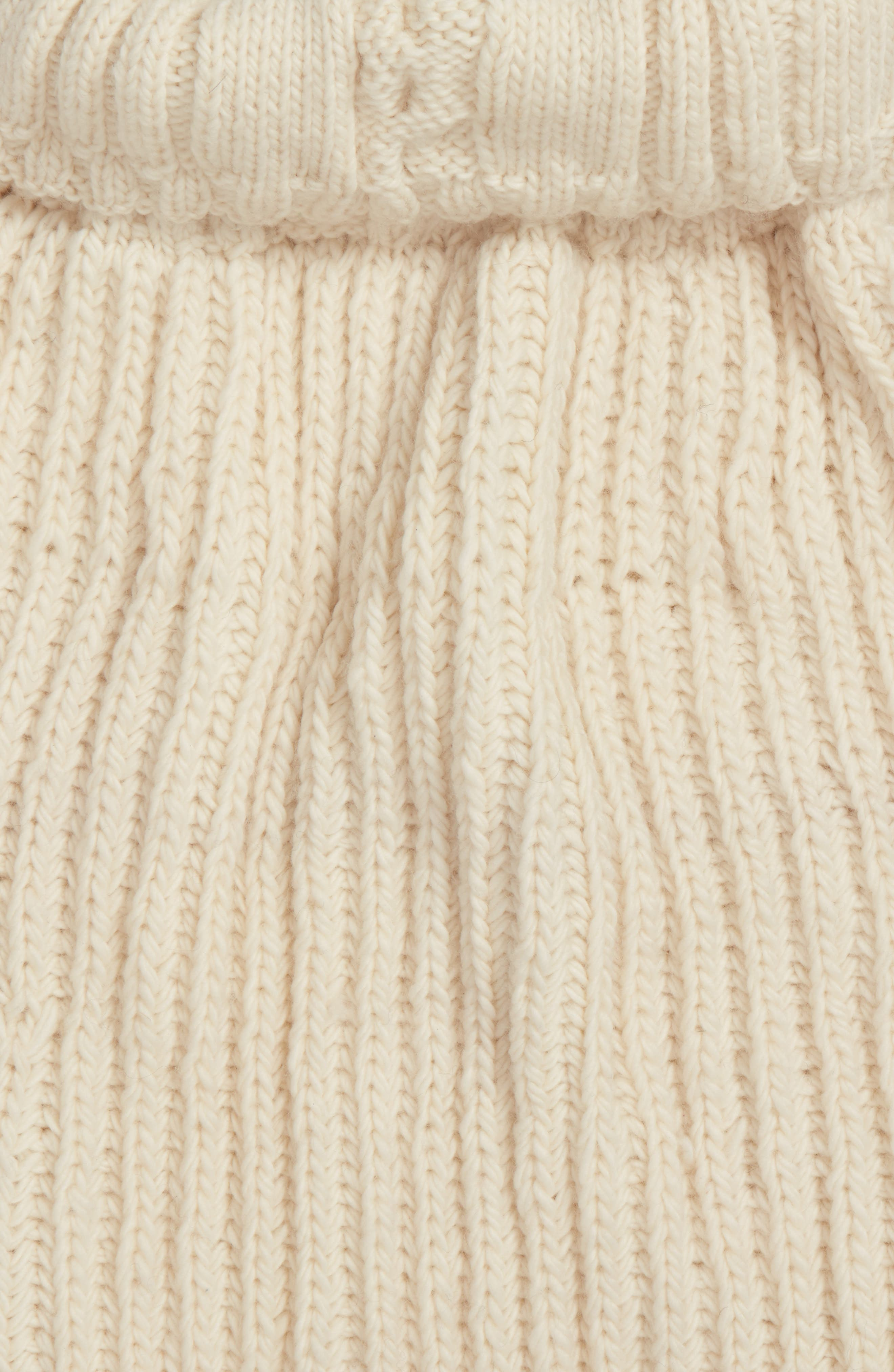 Oversize Cable Knit Wool Infinity Scarf,                             Alternate thumbnail 8, color,