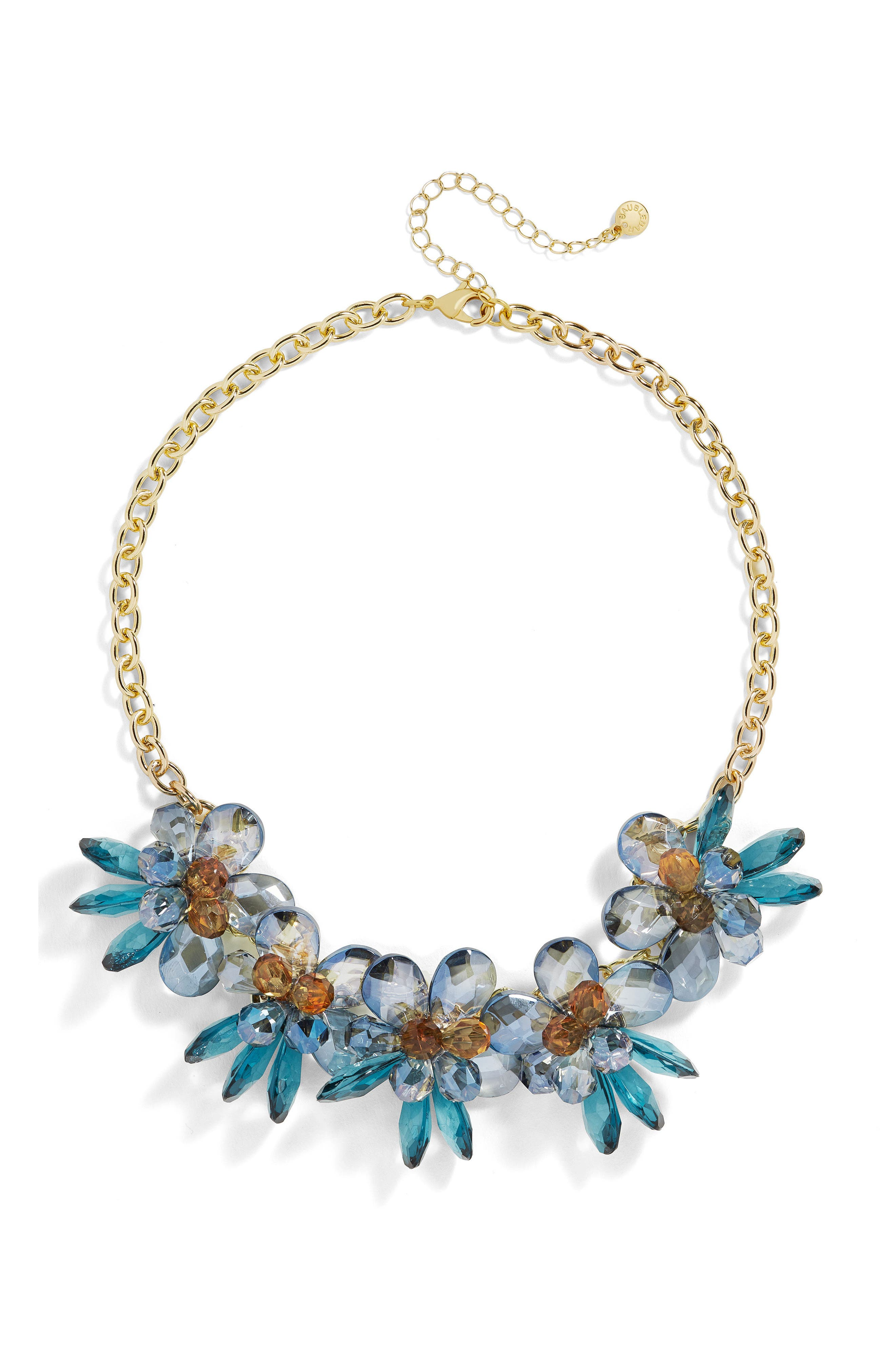 Crystalline Large Flower Statement Necklace,                             Main thumbnail 1, color,                             400