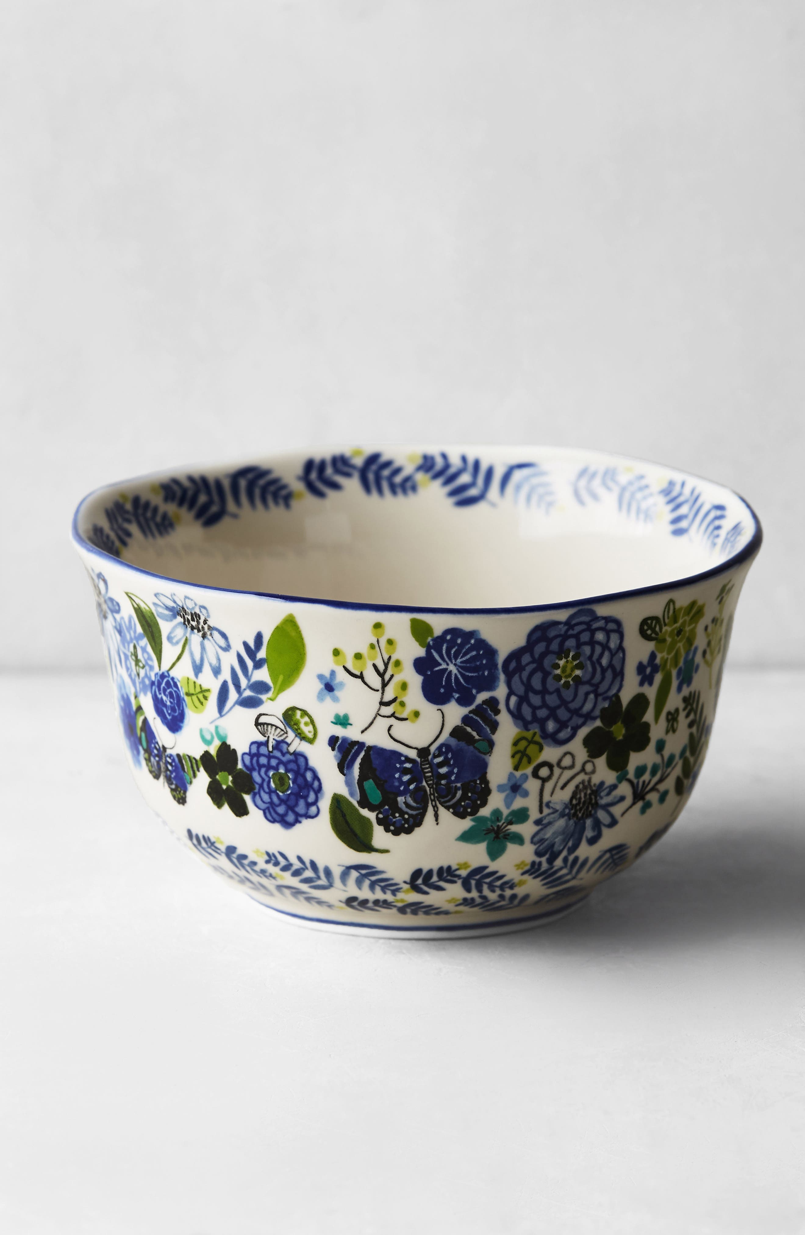 Wing & Petal Stoneware Bowl,                             Alternate thumbnail 3, color,                             400