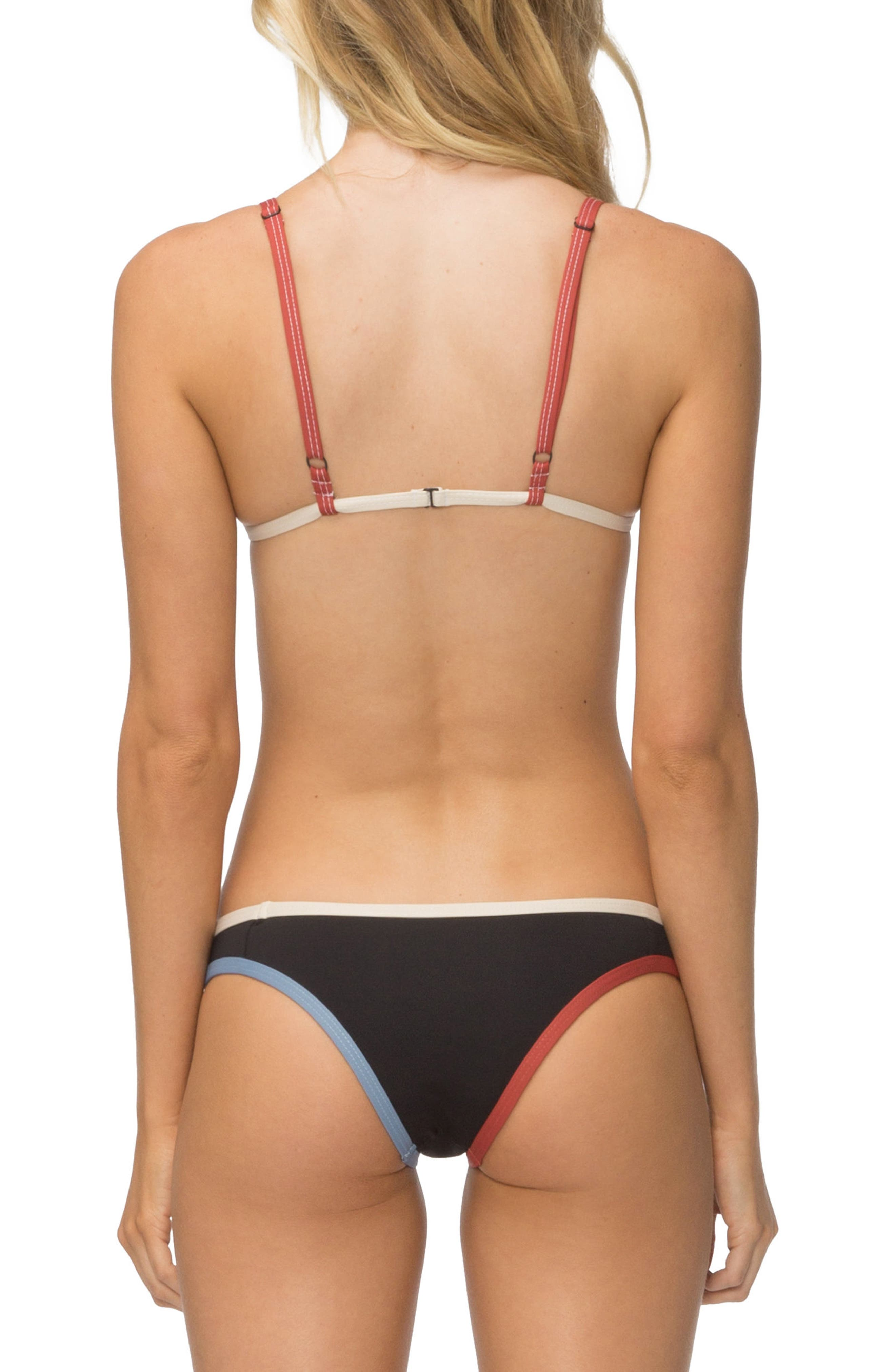 Jett Bikini Top,                             Alternate thumbnail 5, color,                             BLACK COLORBLOCK