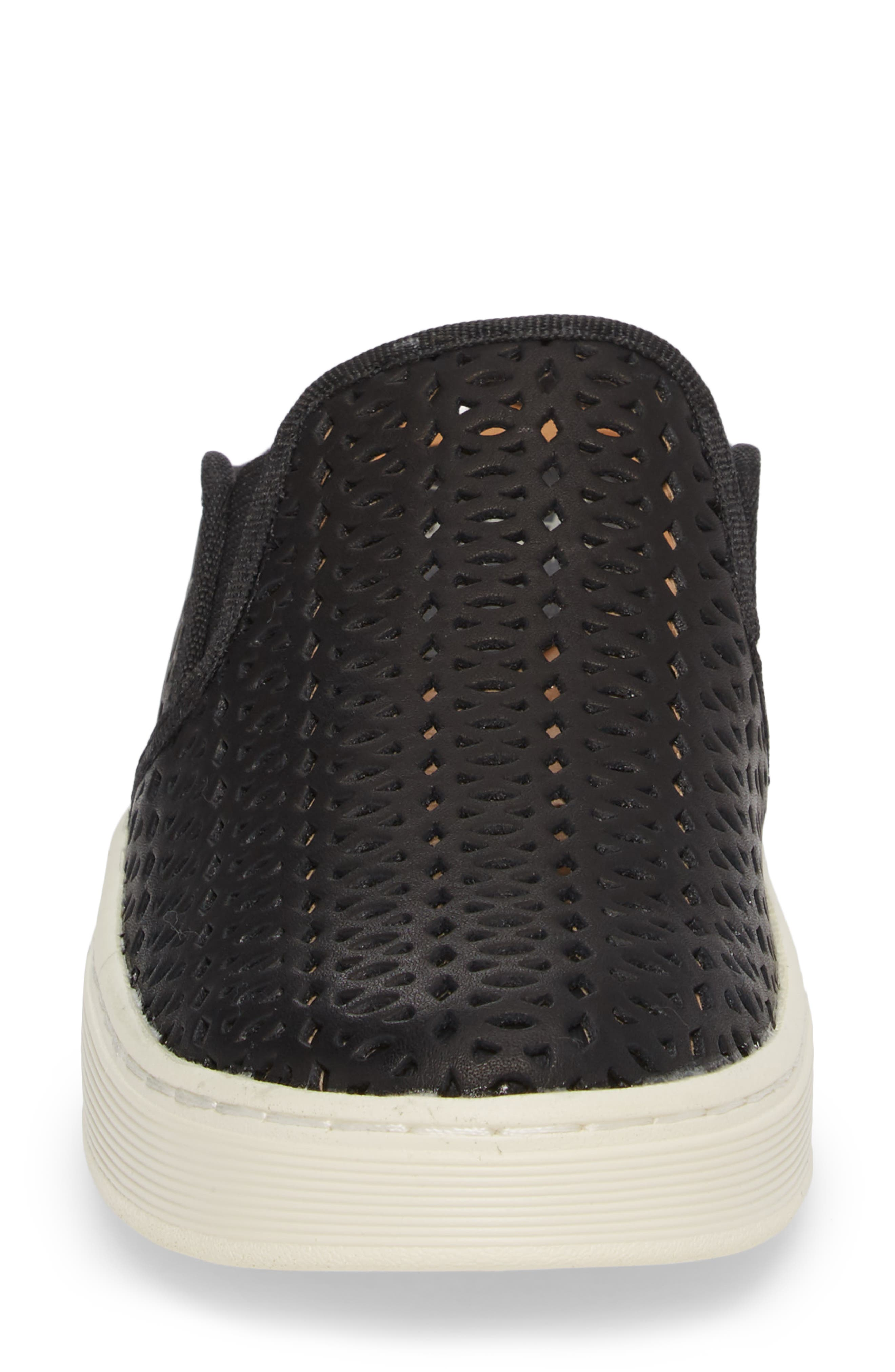 Somers II Sneaker,                             Alternate thumbnail 4, color,                             BLACK LEATHER