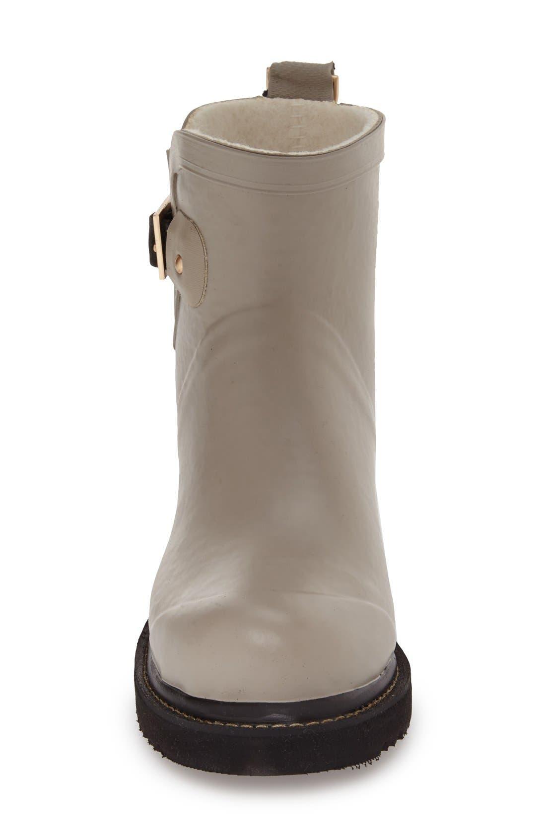 Short Waterproof Rubber Boot,                             Alternate thumbnail 3, color,                             ATMOSPHERE