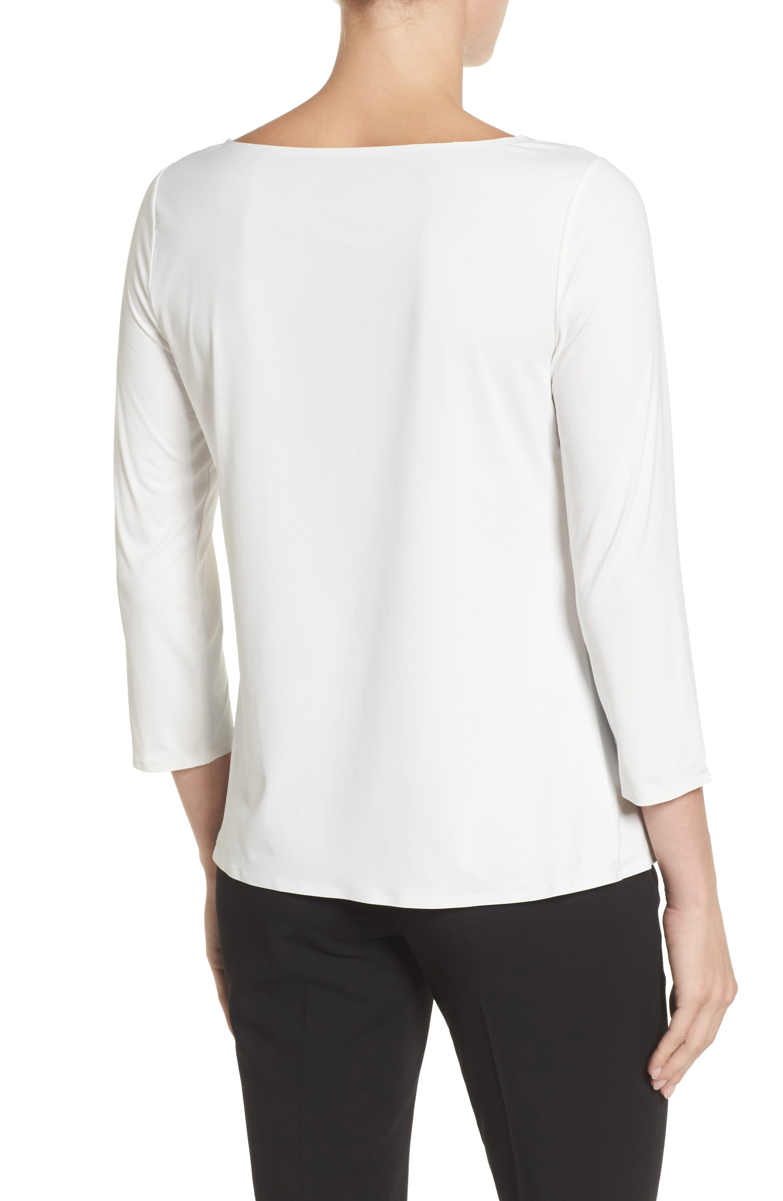 Three Quarter Sleeve Top,                             Alternate thumbnail 2, color,                             900