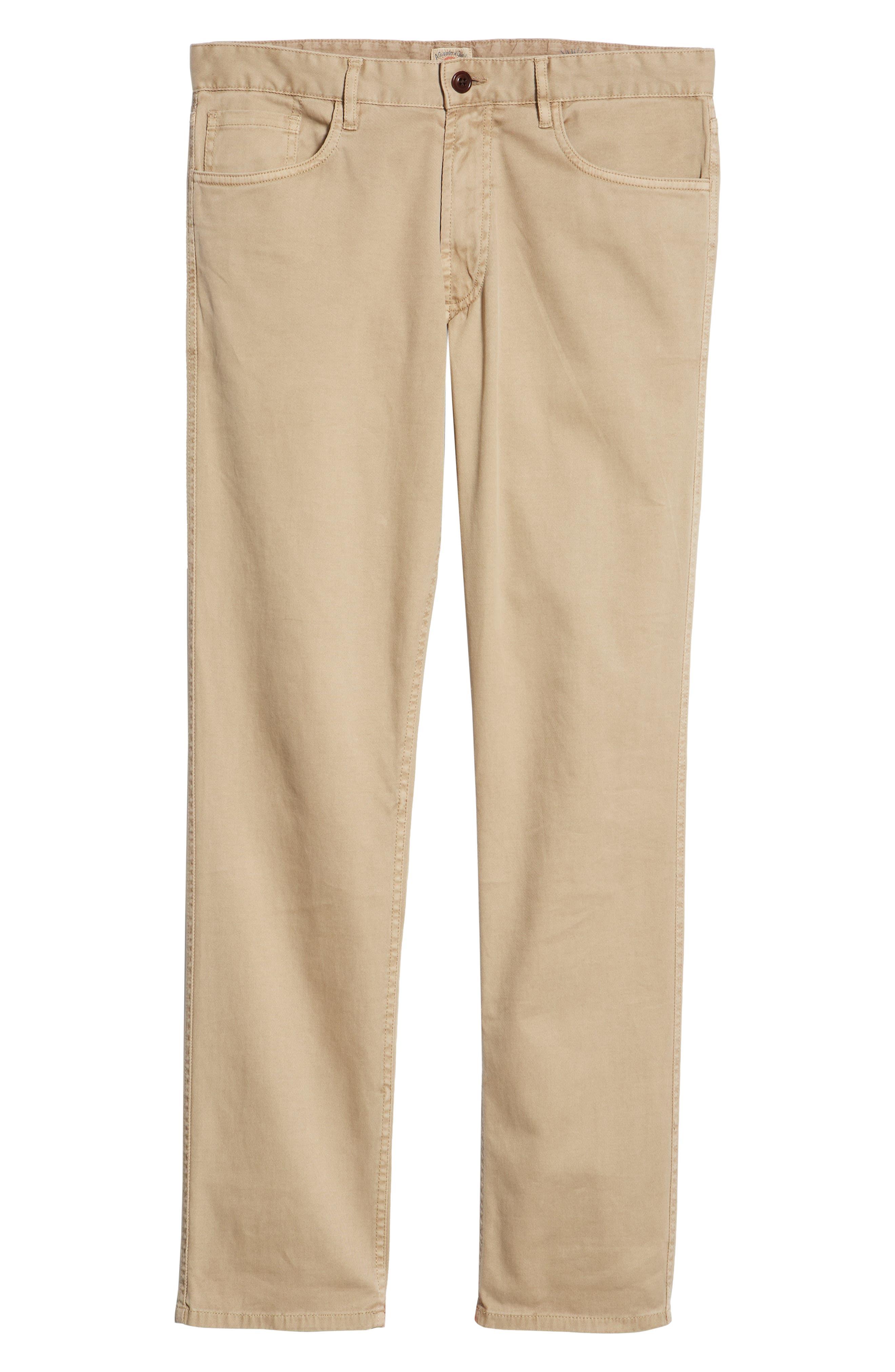Comfort Twill Five-Pocket Pants,                             Alternate thumbnail 6, color,                             KHAKI