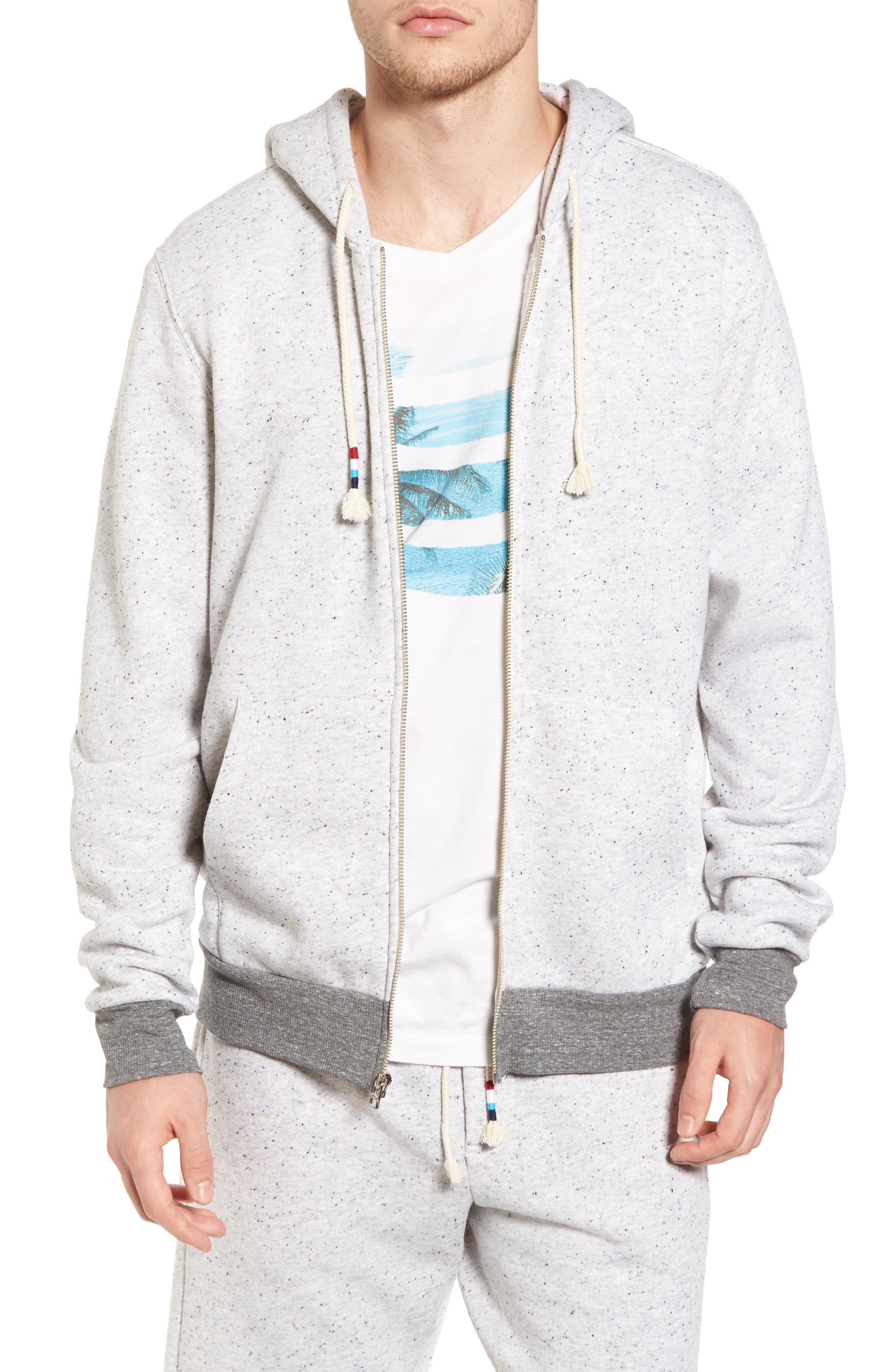 Peppered French Terry Hoodie,                             Main thumbnail 1, color,                             050