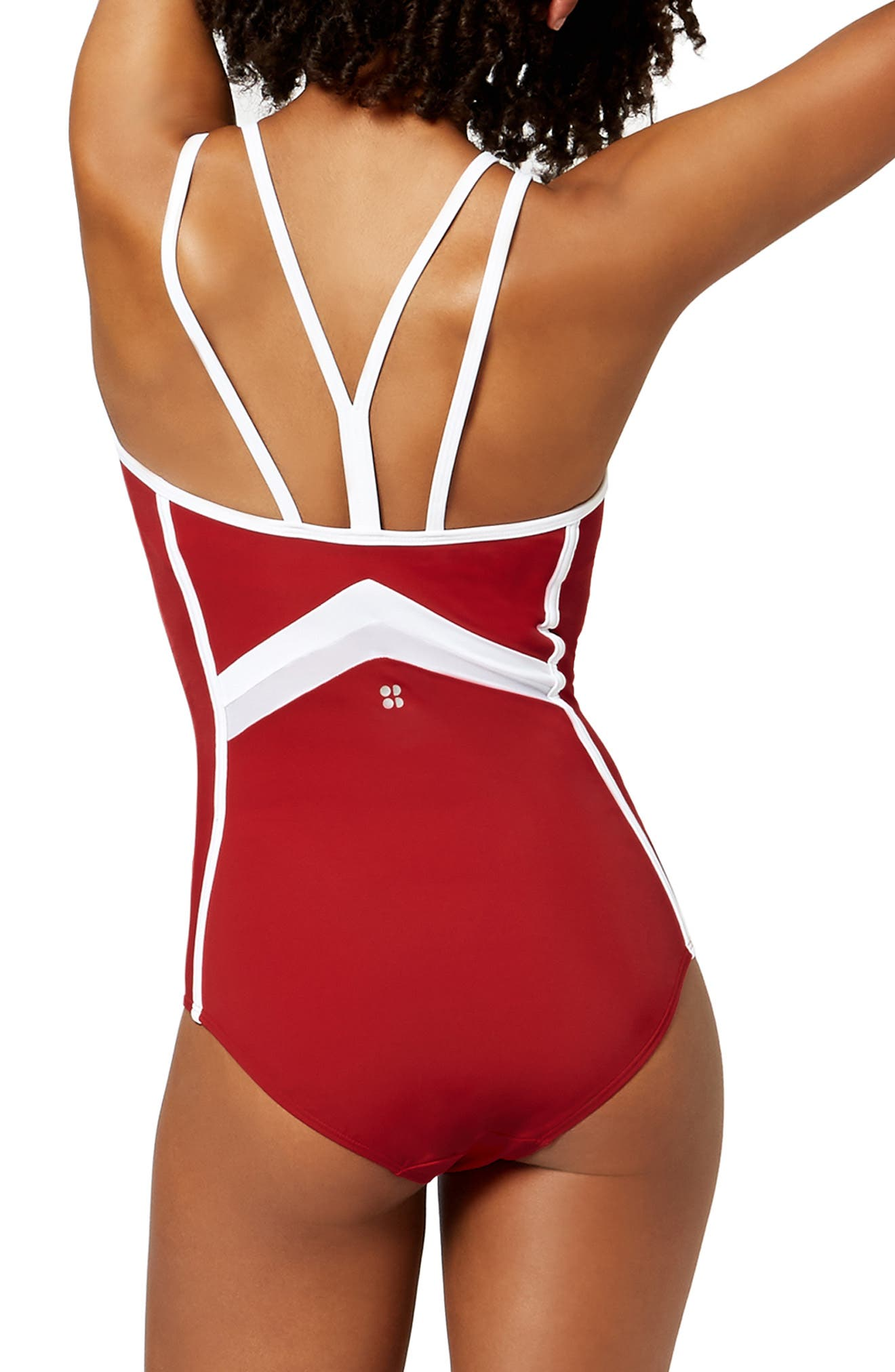 Butterfly One-Piece Swimsuit,                             Alternate thumbnail 2, color,                             600