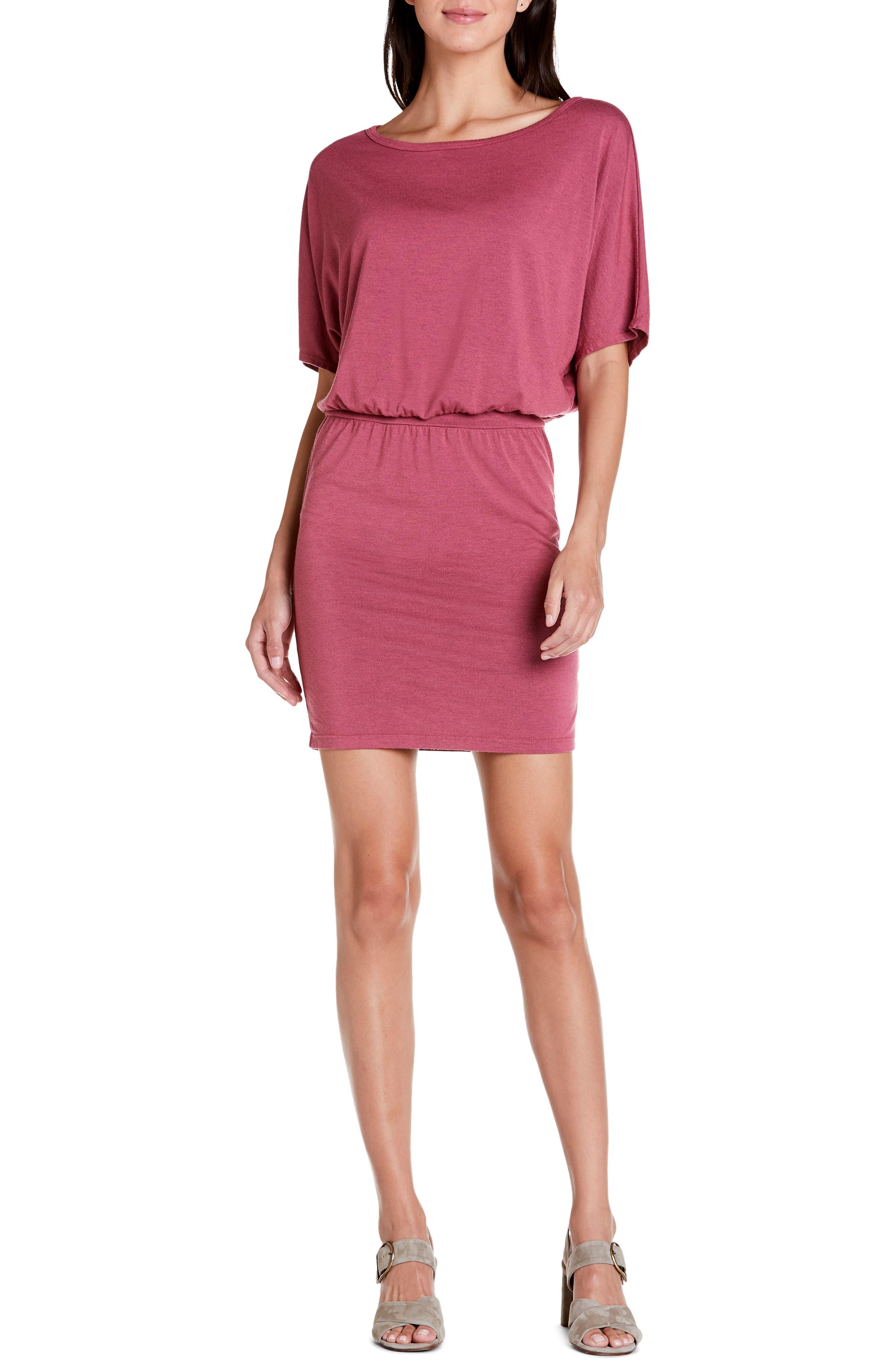 Michael Stars Erynn Elbow Sleeve Knit Dress, Pink