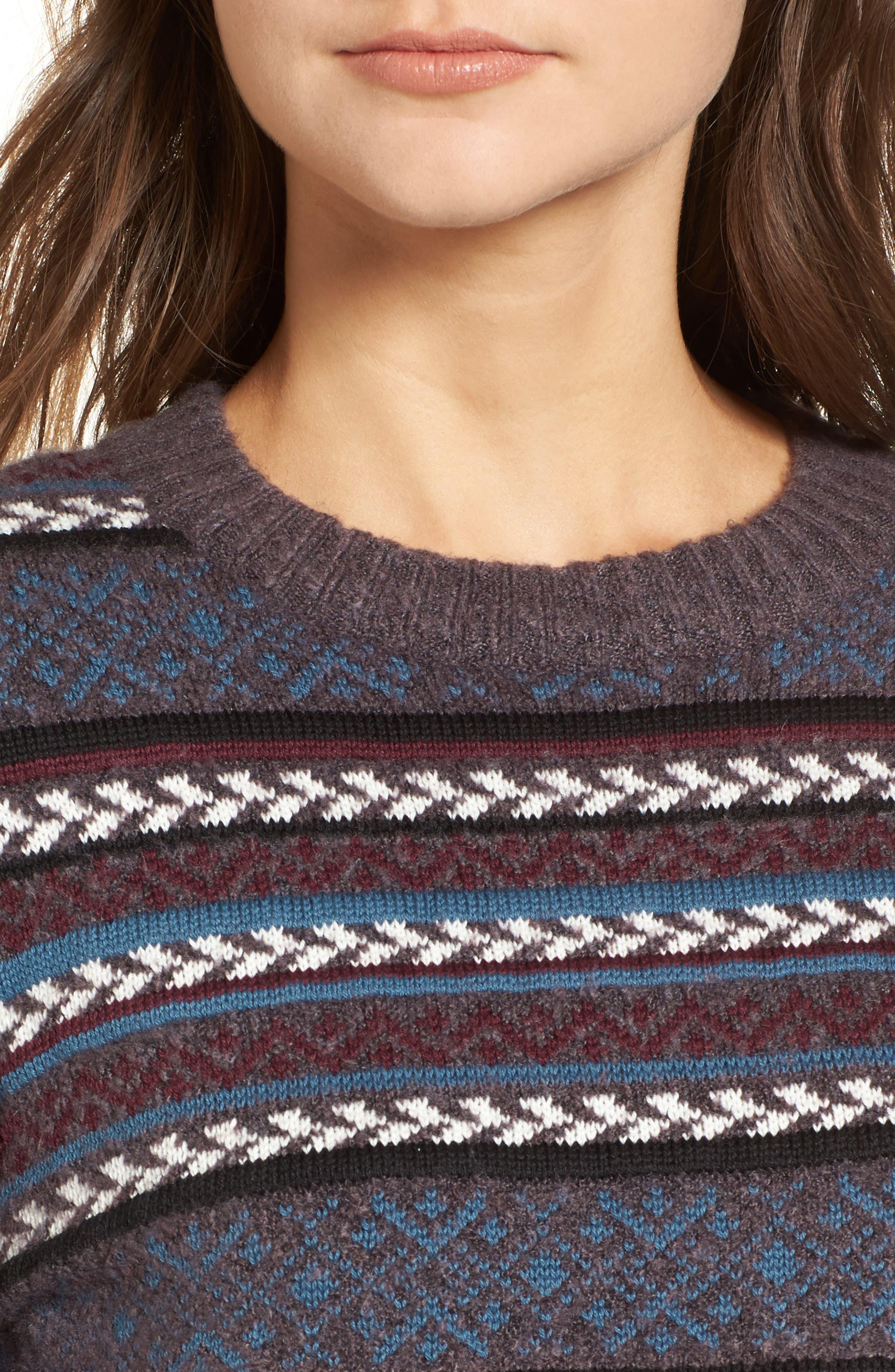 Fair Isle Stripe Sweater,                             Alternate thumbnail 4, color,                             930