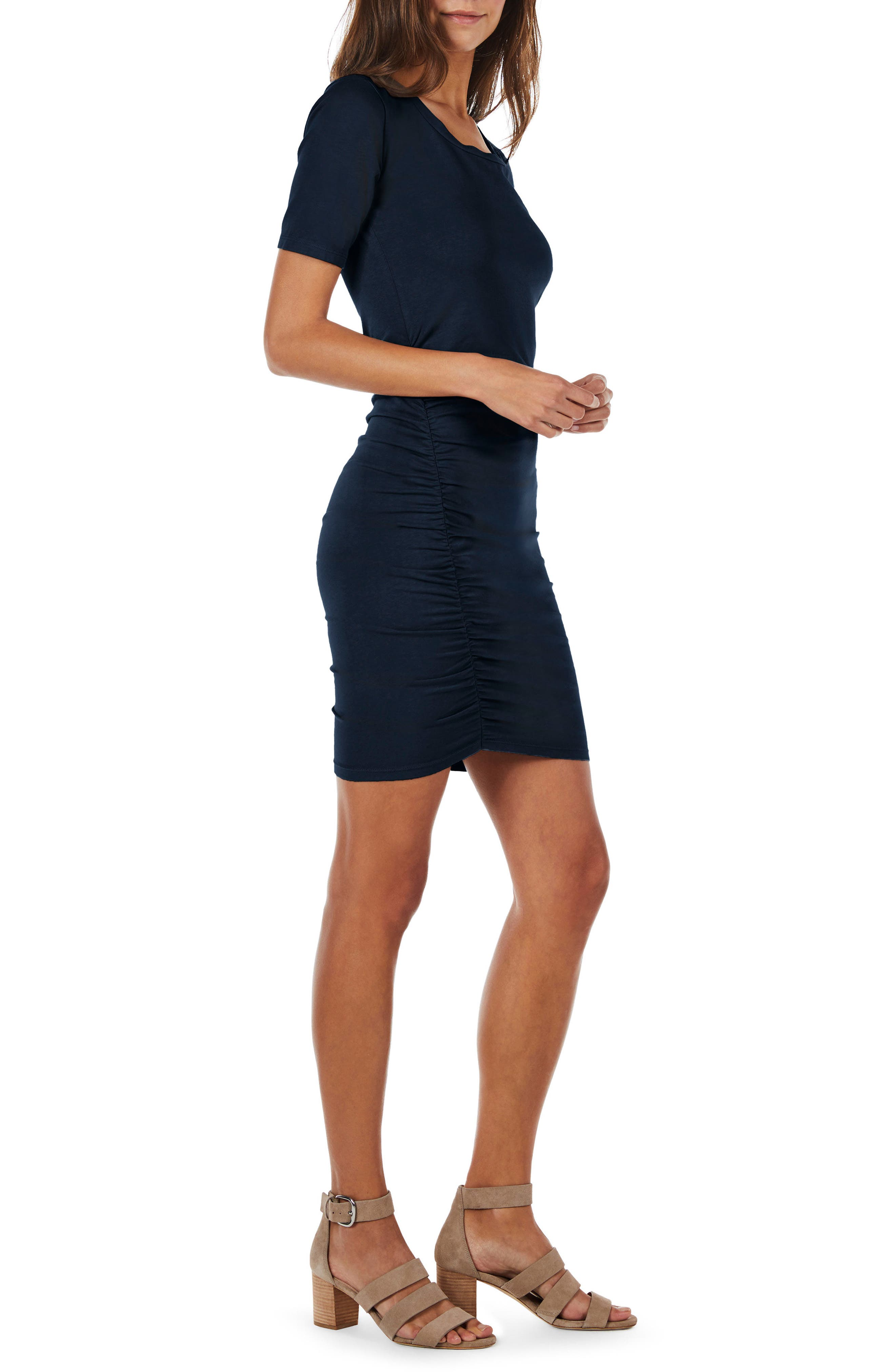 Ruched Body-Con Dress,                             Alternate thumbnail 8, color,