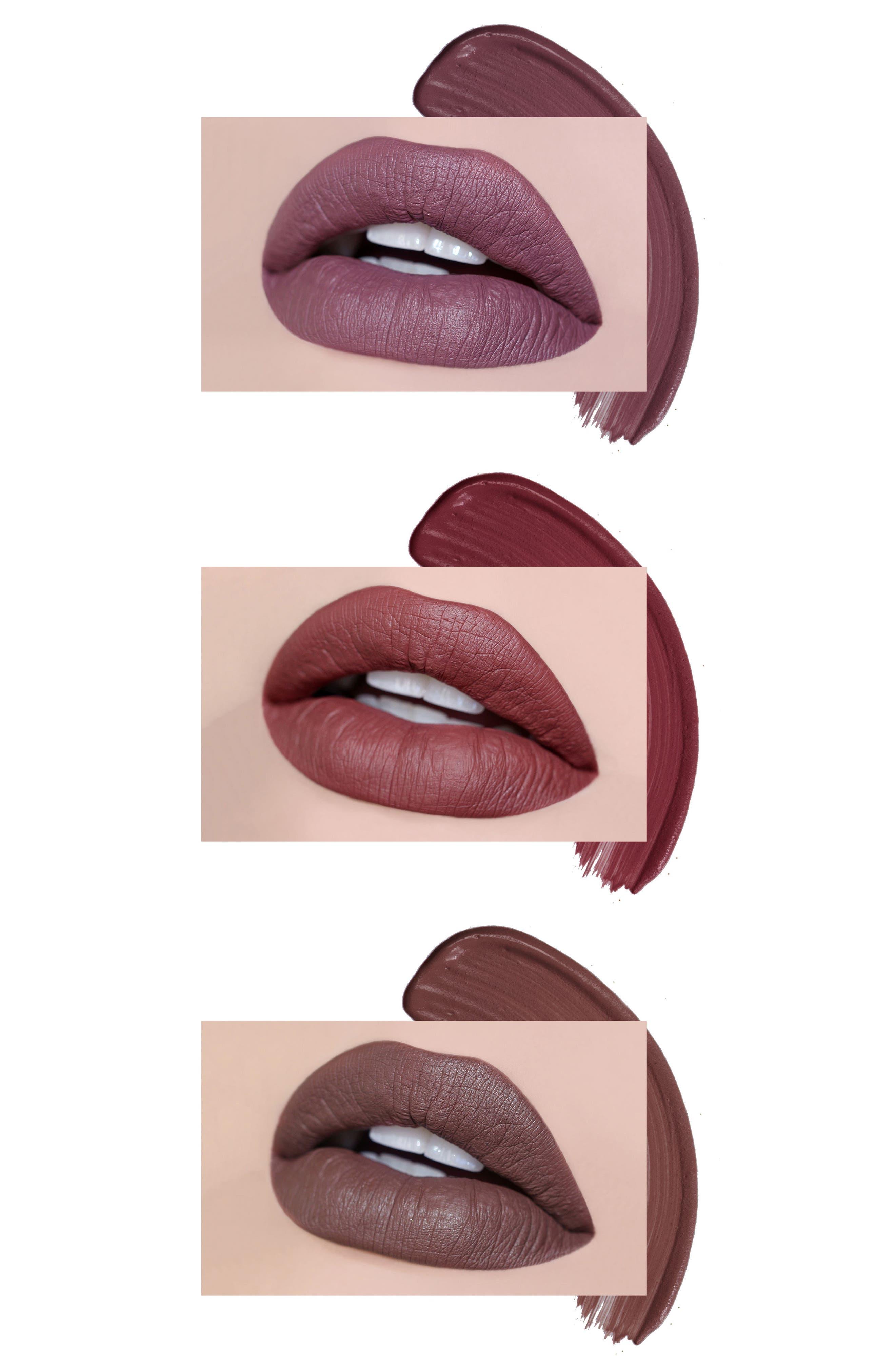 Best of Deeps Mini Long-Wear Lip Crème Liquid Lipstick Collection,                             Alternate thumbnail 5, color,                             000