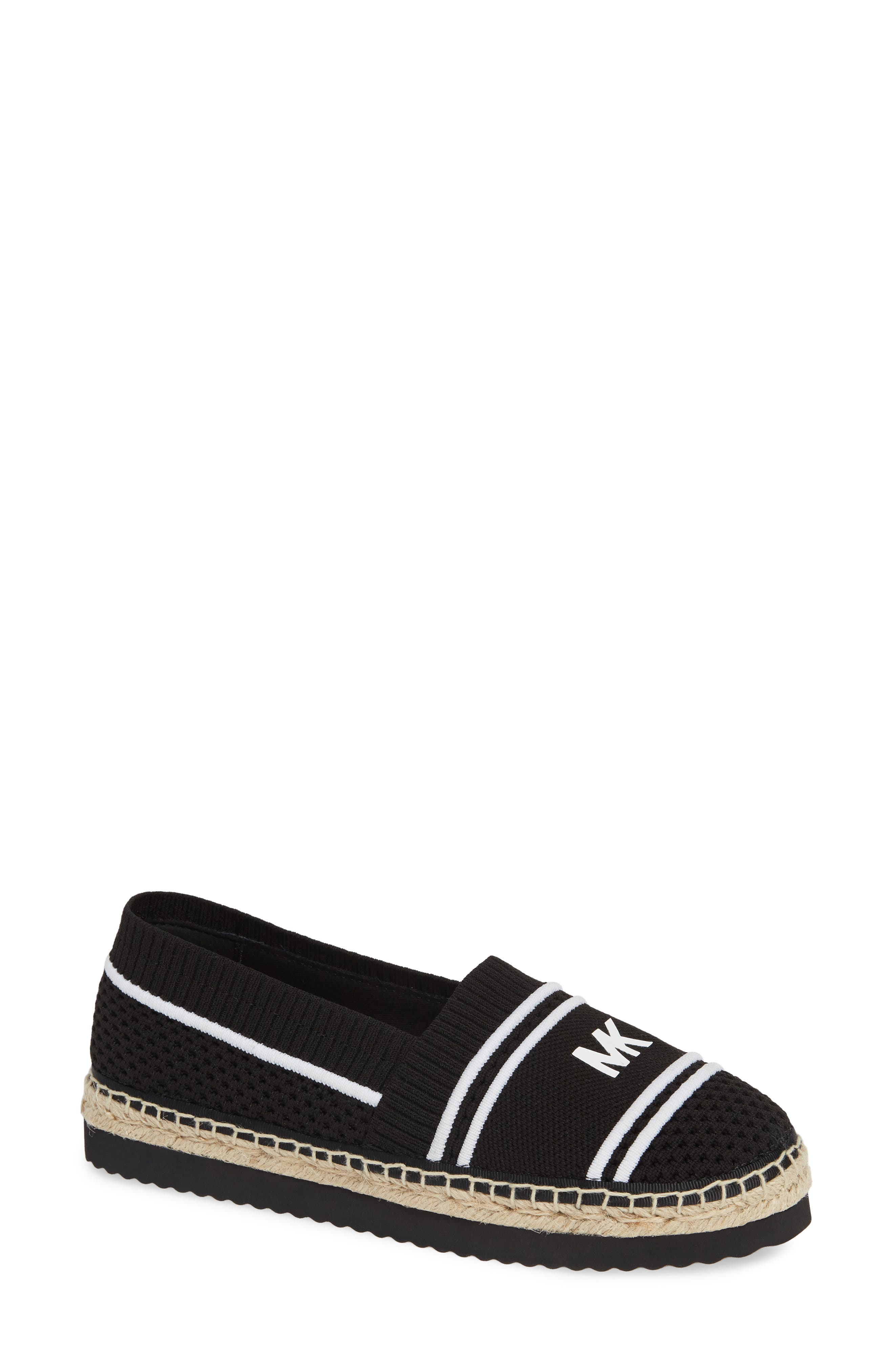 Raya Espadrille in Black Fabric