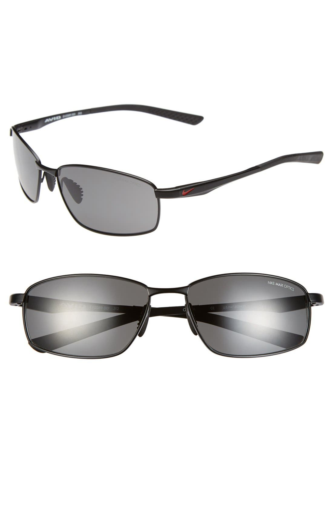 'Avid' 57mm Sunglasses,                             Main thumbnail 1, color,