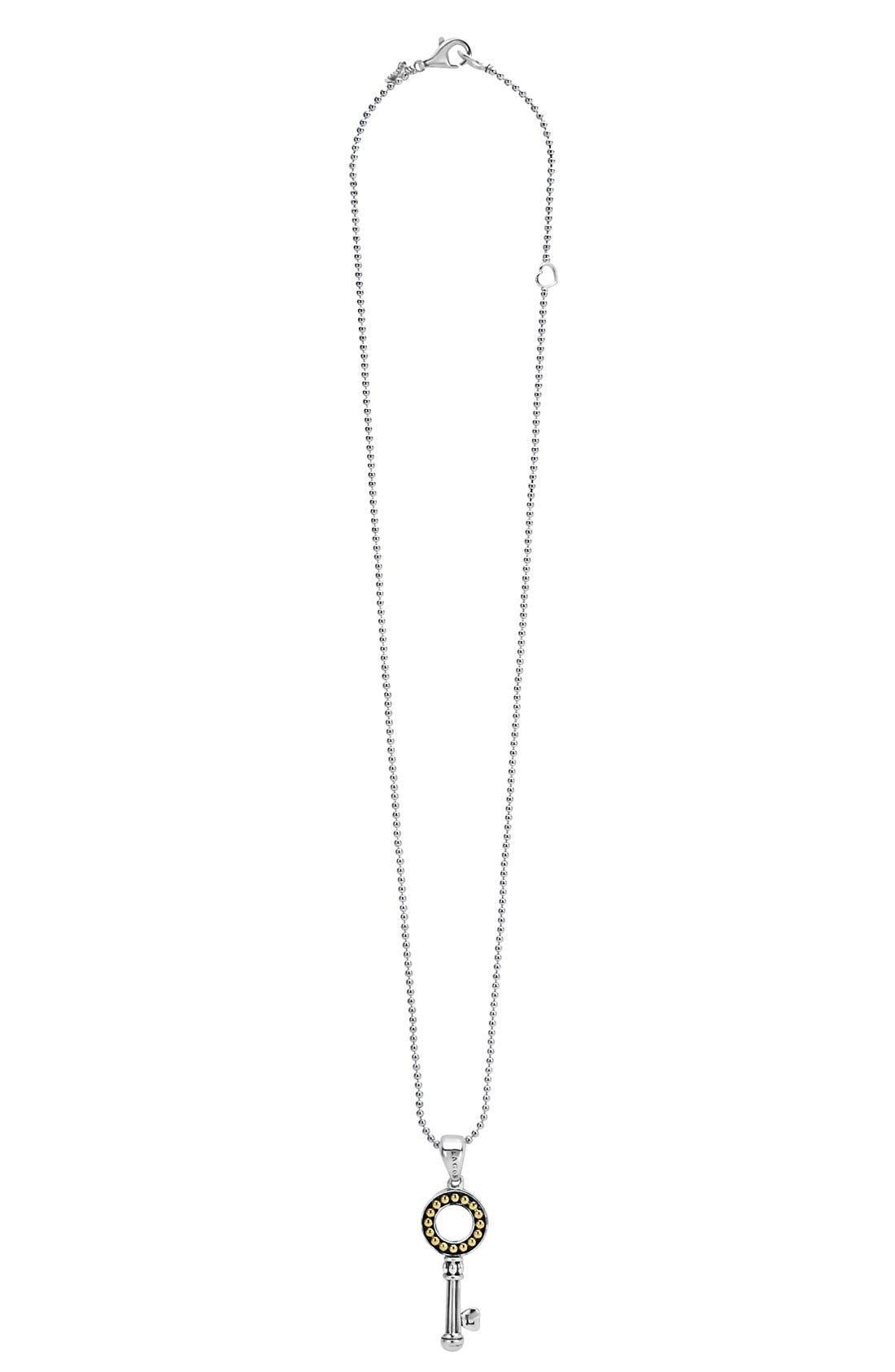 'Beloved' Key Pendant Necklace,                         Main,                         color, 040