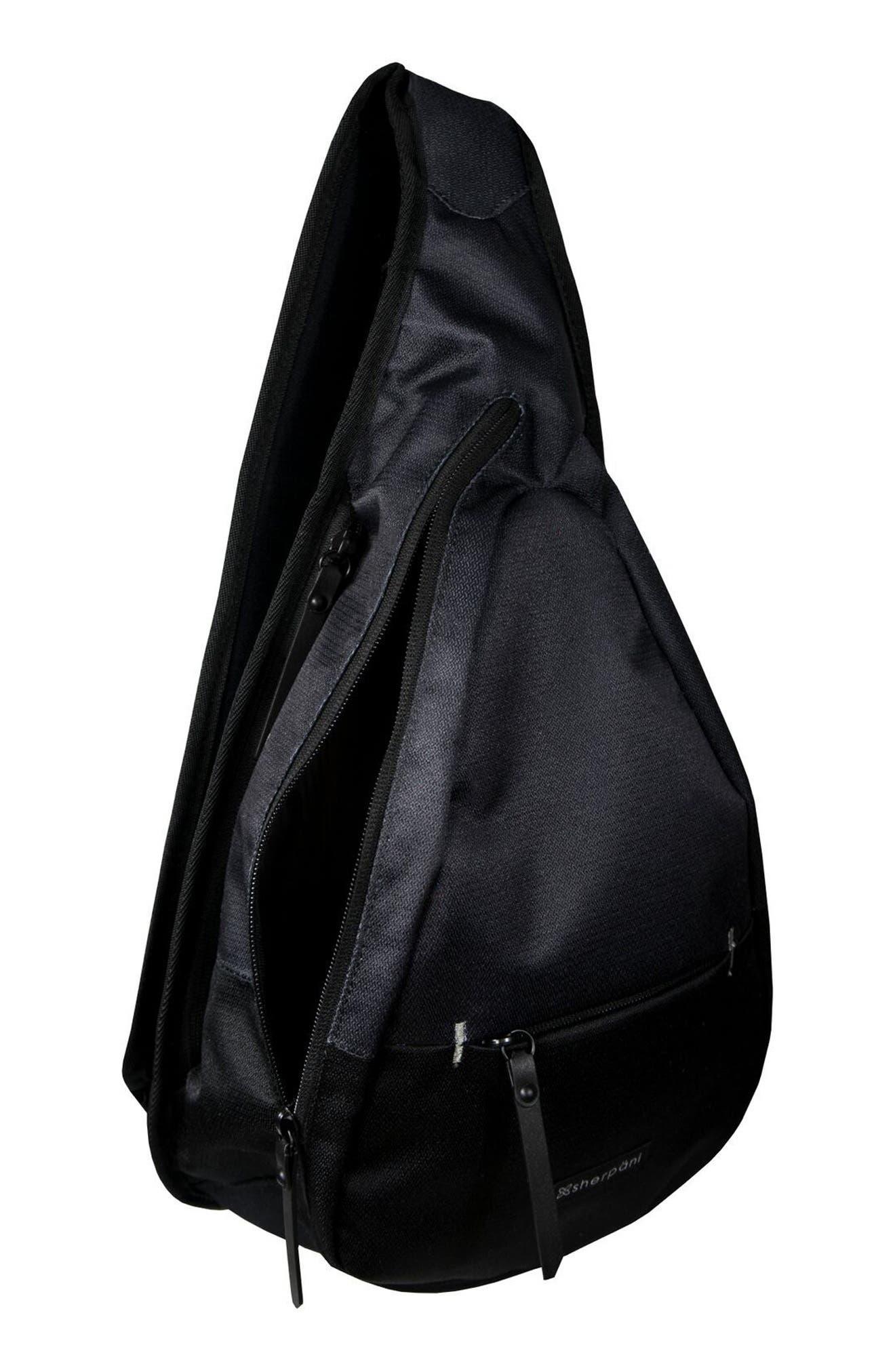 Esprit RFID Sling Backpack,                             Alternate thumbnail 4, color,                             001