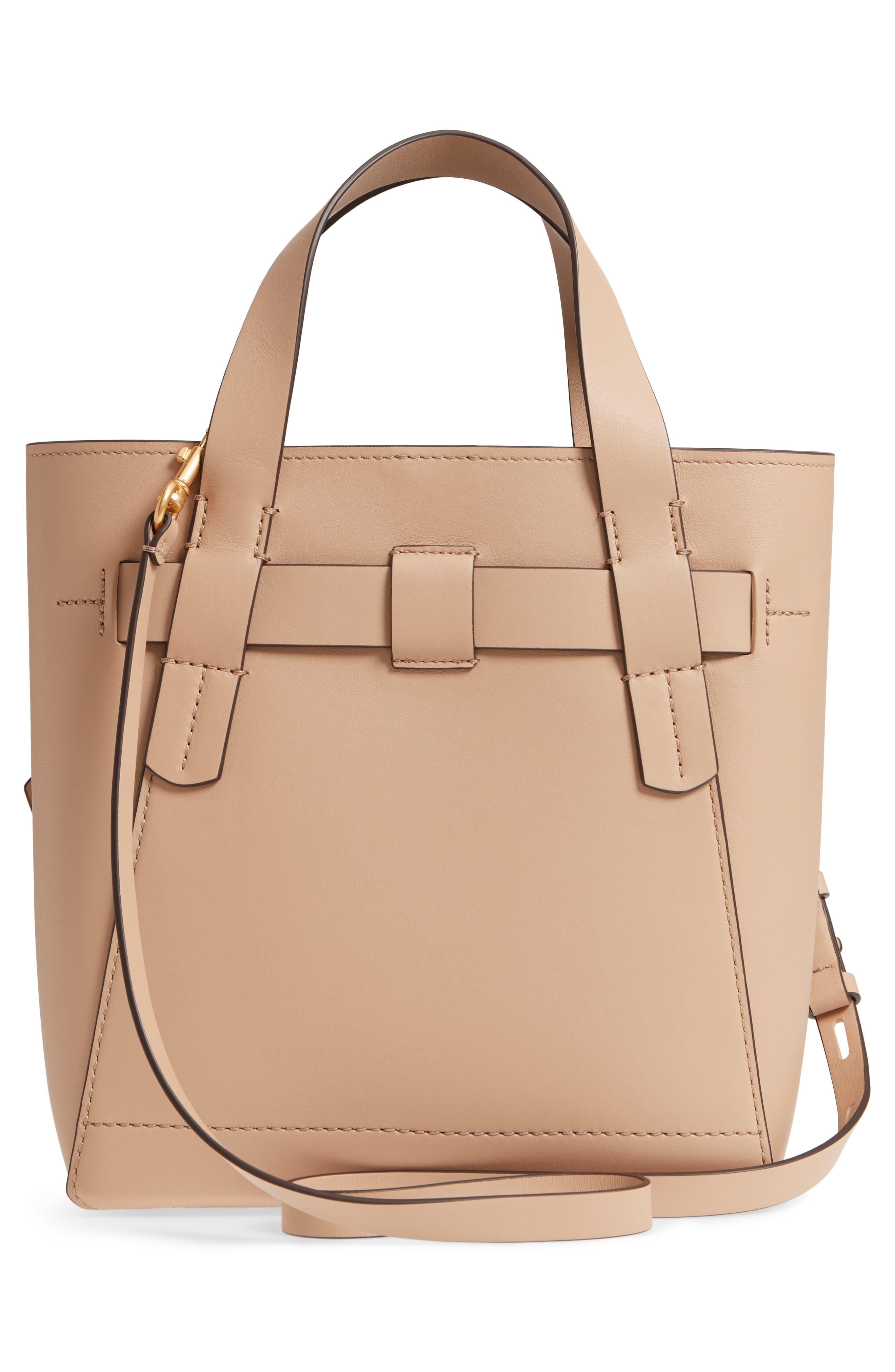 Small Gemini Link Leather Tote,                             Alternate thumbnail 5, color,