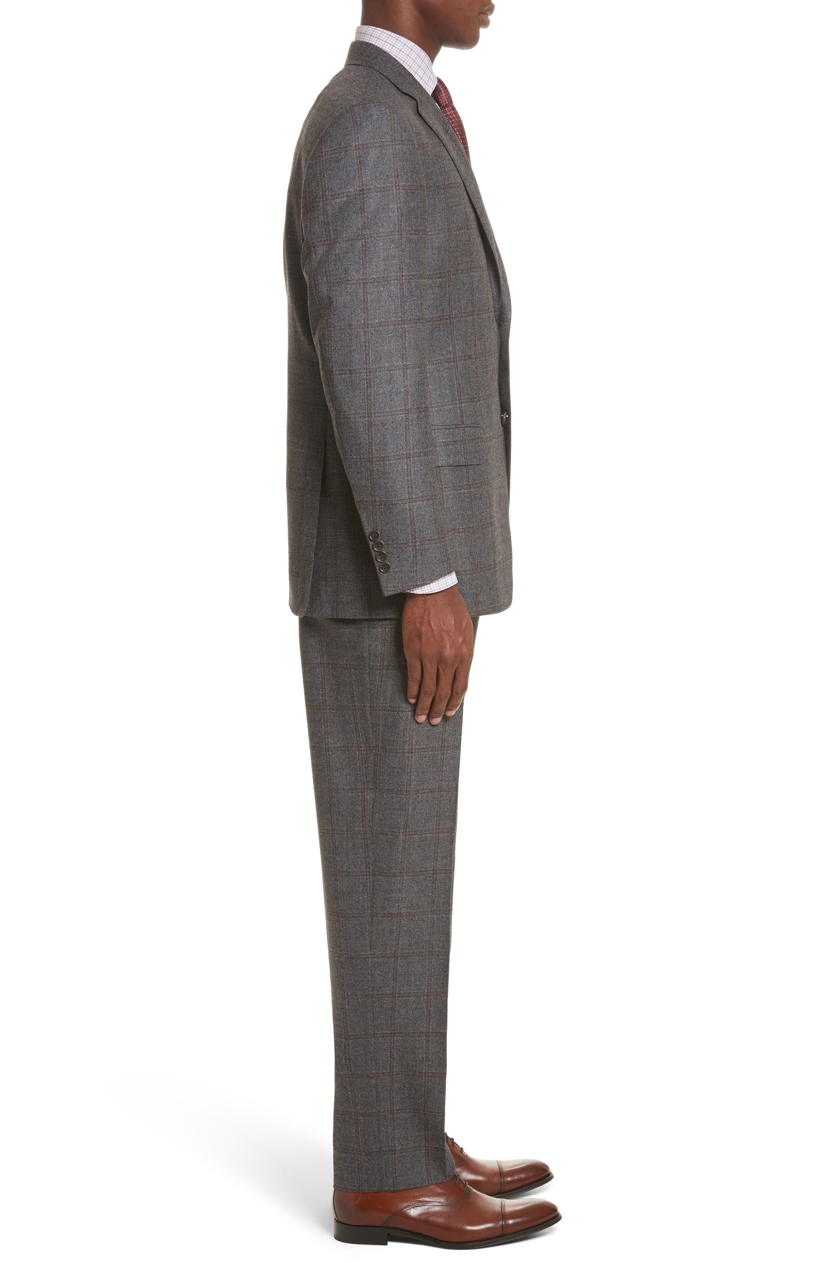 Classic Fit Plaid Wool Suit,                             Alternate thumbnail 3, color,                             030