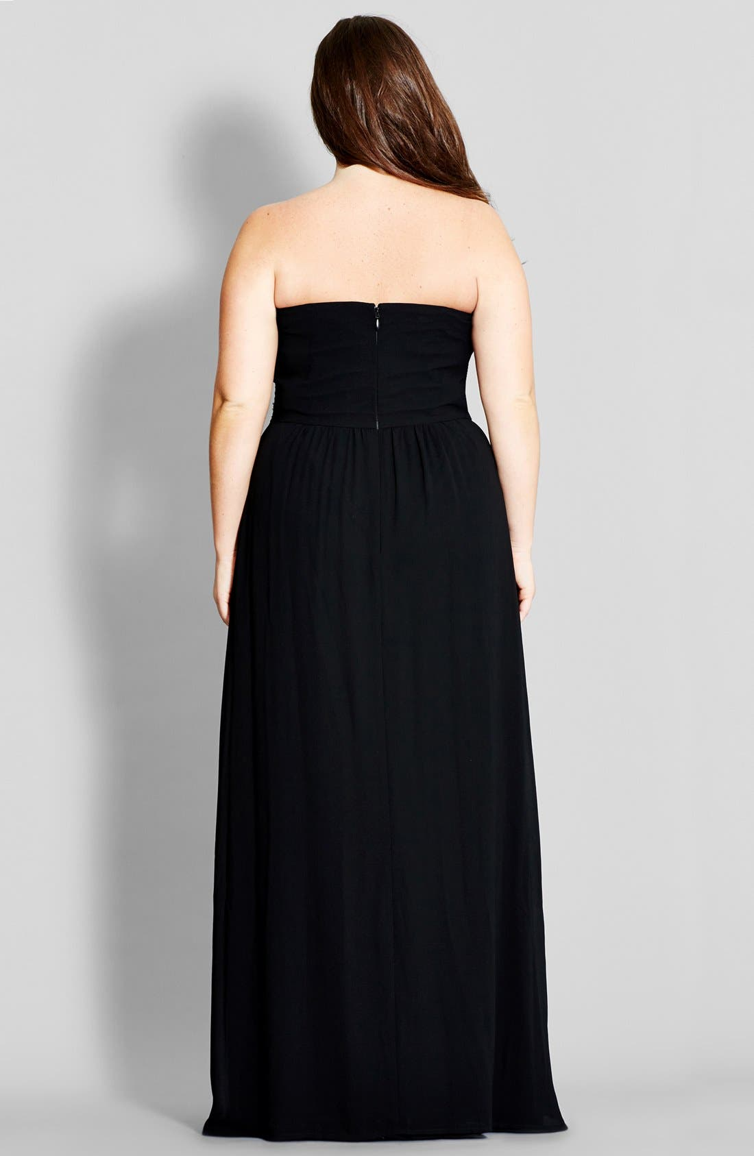 'Contrast Camilla' Embellished Strapless Maxi Dress,                             Alternate thumbnail 2, color,                             001