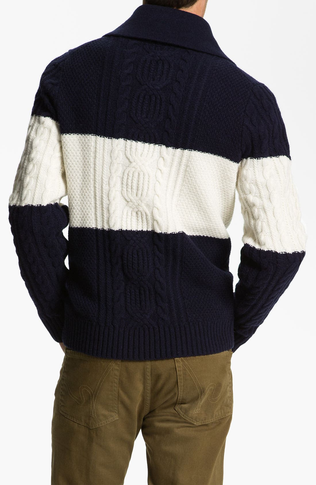 Shawl Collar Wool Sweater,                             Alternate thumbnail 2, color,                             410