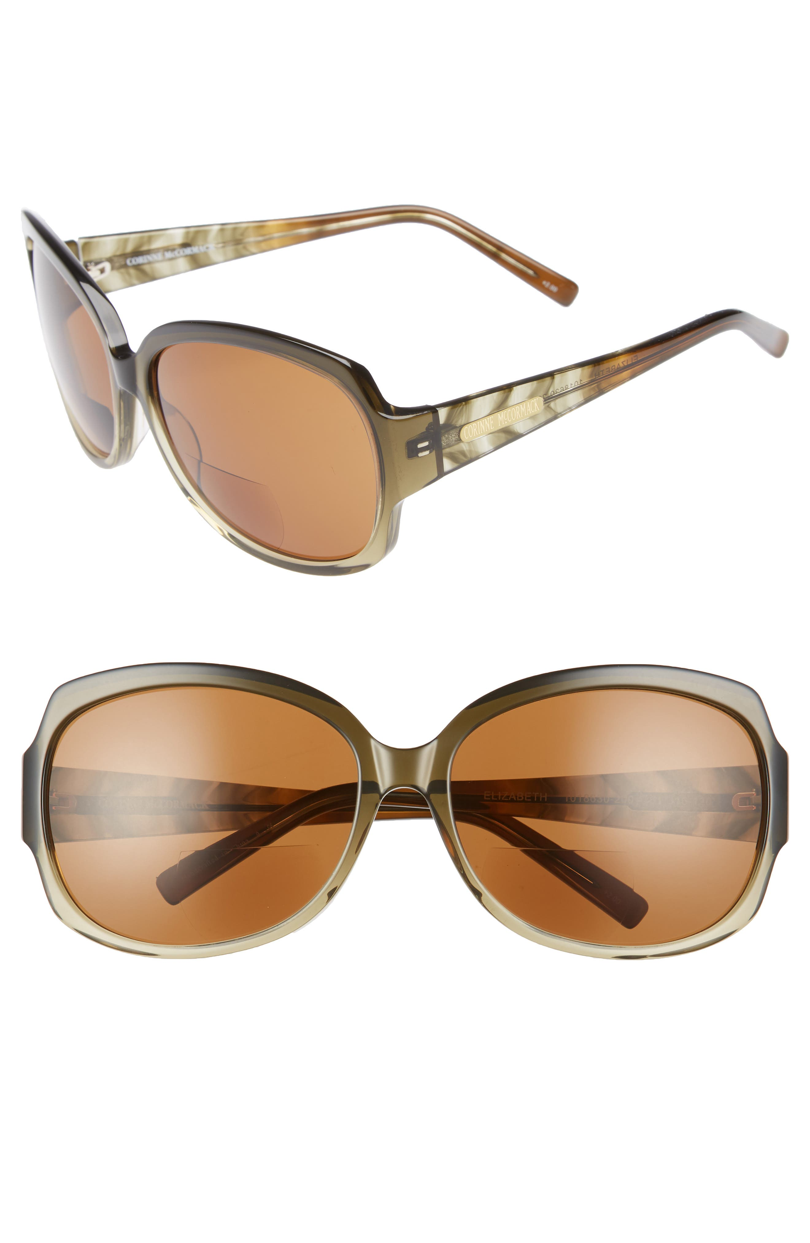 'Elizabeth' 61mm Reading Sunglasses,                         Main,                         color, 300