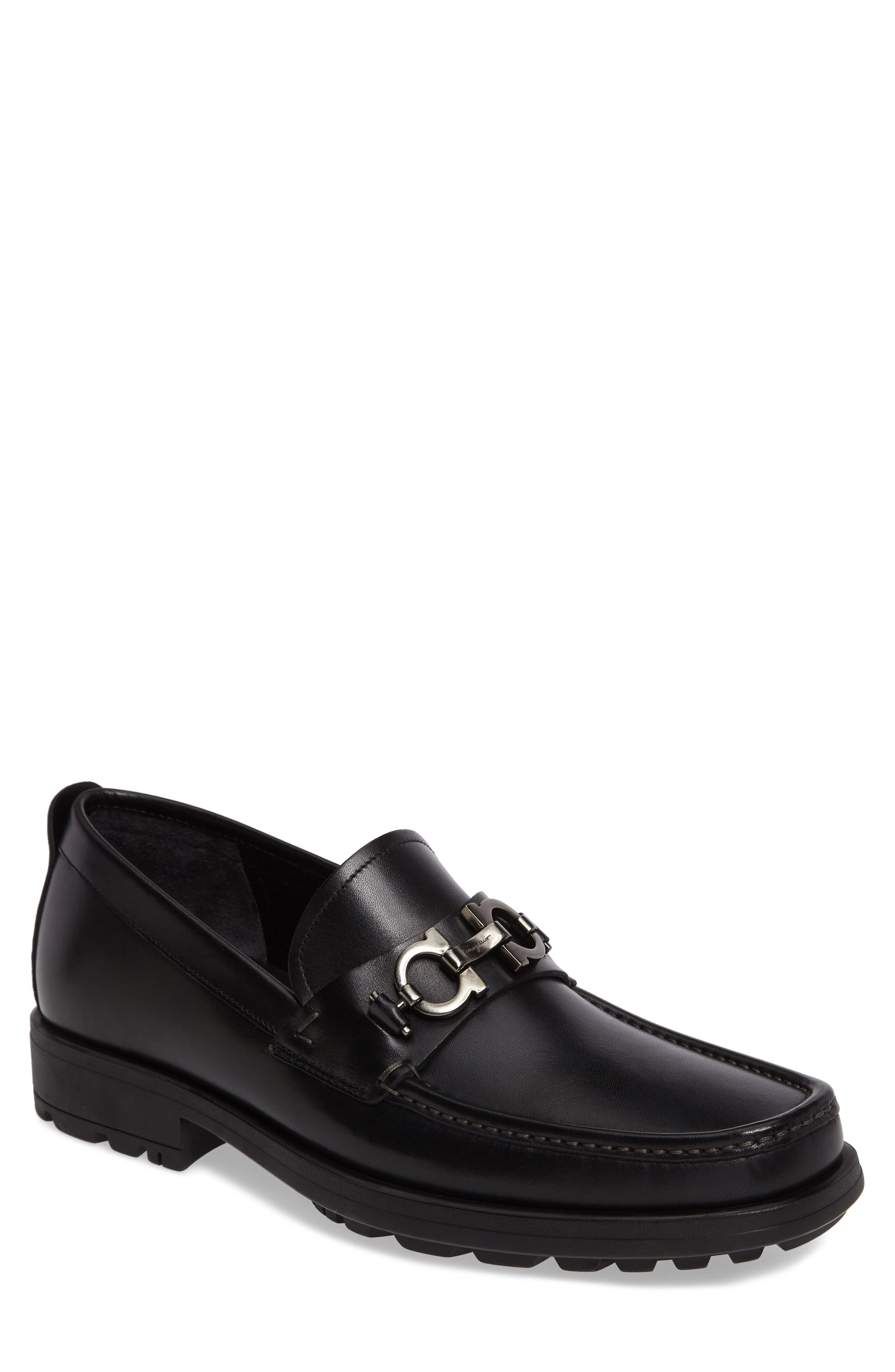 David Bit Loafer,                             Main thumbnail 1, color,                             BLACK LEATHER