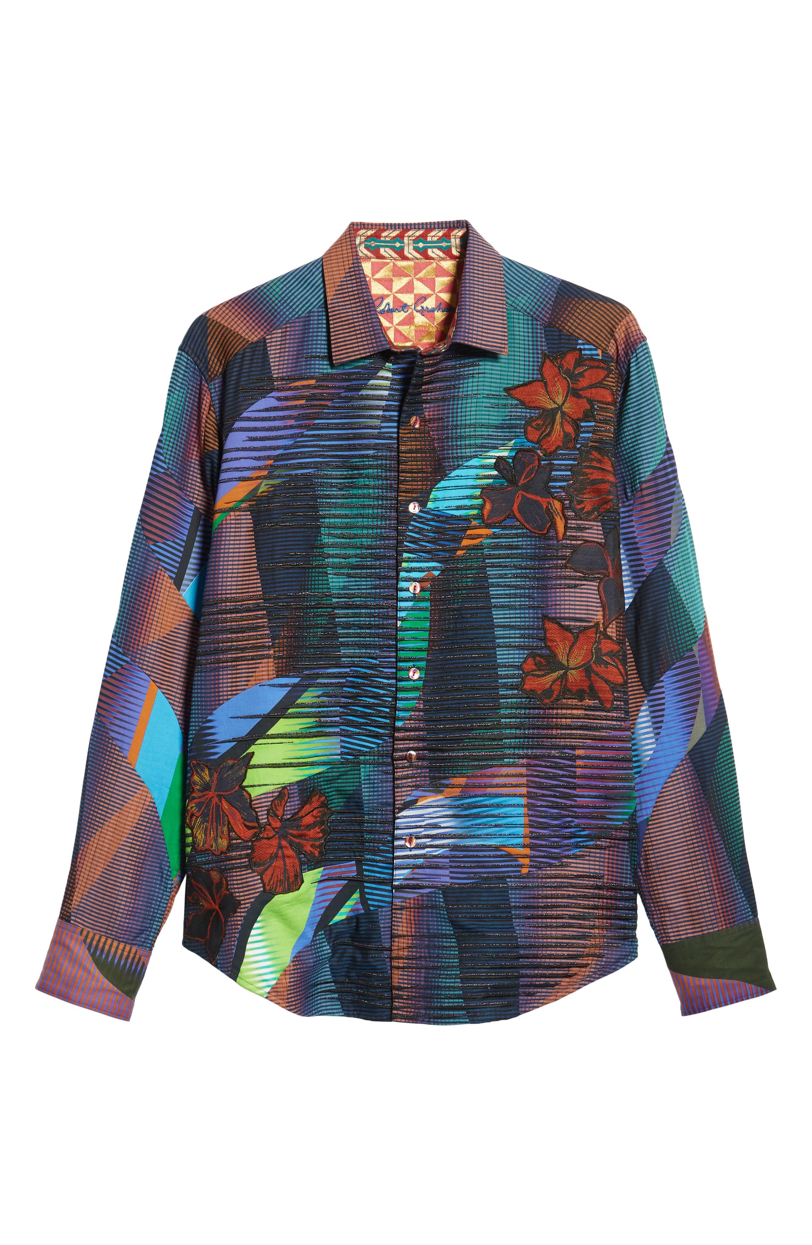 Canyon Flower Classic Fit Sport Shirt,                             Alternate thumbnail 5, color,                             MULTI