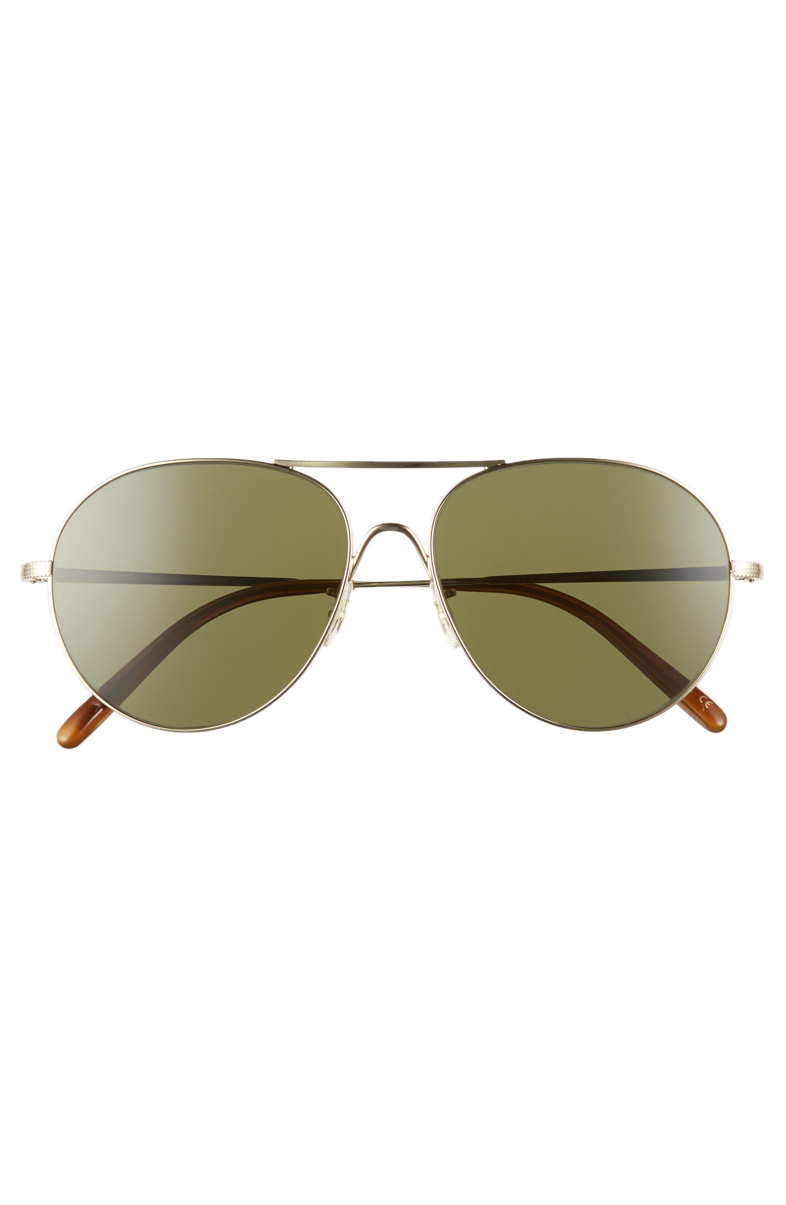 Rockmore 58mm Aviator Sunglasses,                             Alternate thumbnail 3, color,                             GOLD