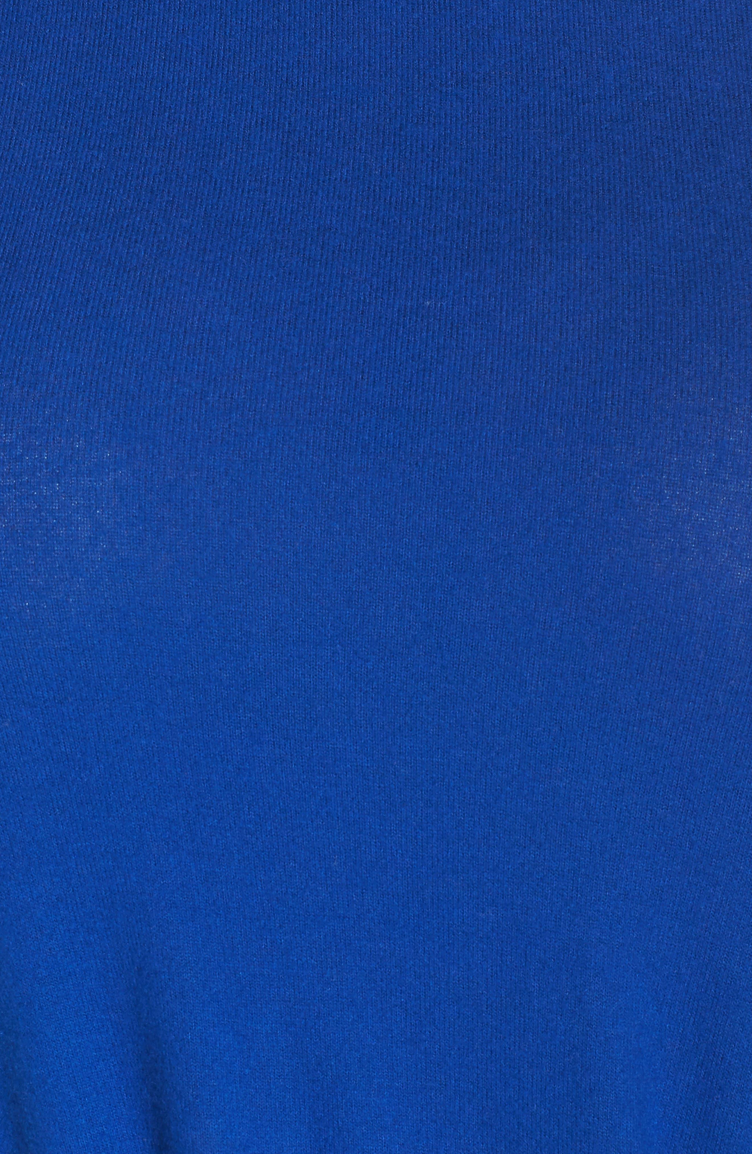 Twist Front Cozy Pullover,                             Alternate thumbnail 5, color,                             BLUE MAZE
