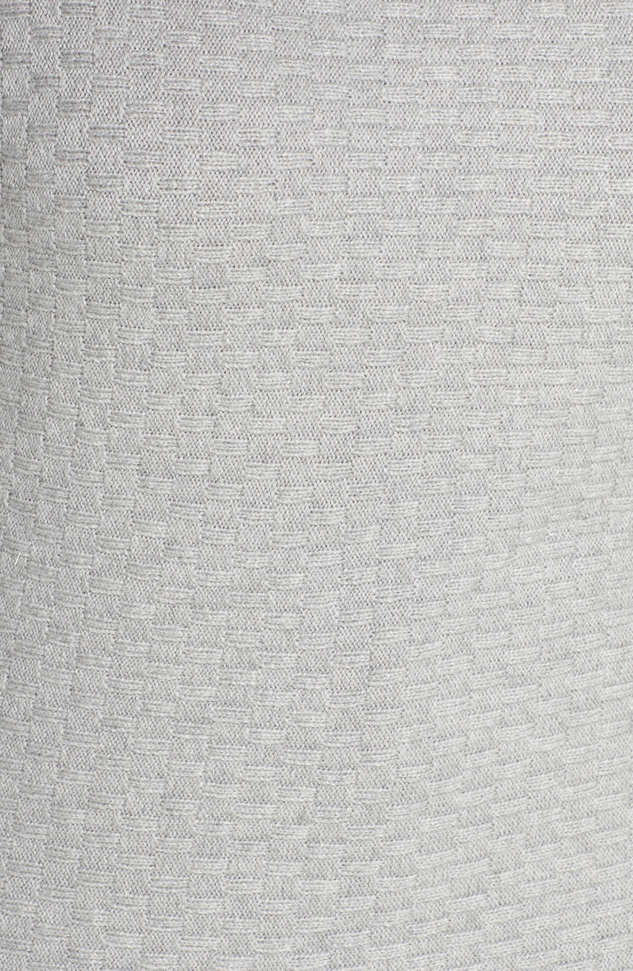 Boatneck Sweater,                             Alternate thumbnail 5, color,                             LIGHT HEATHER GREY