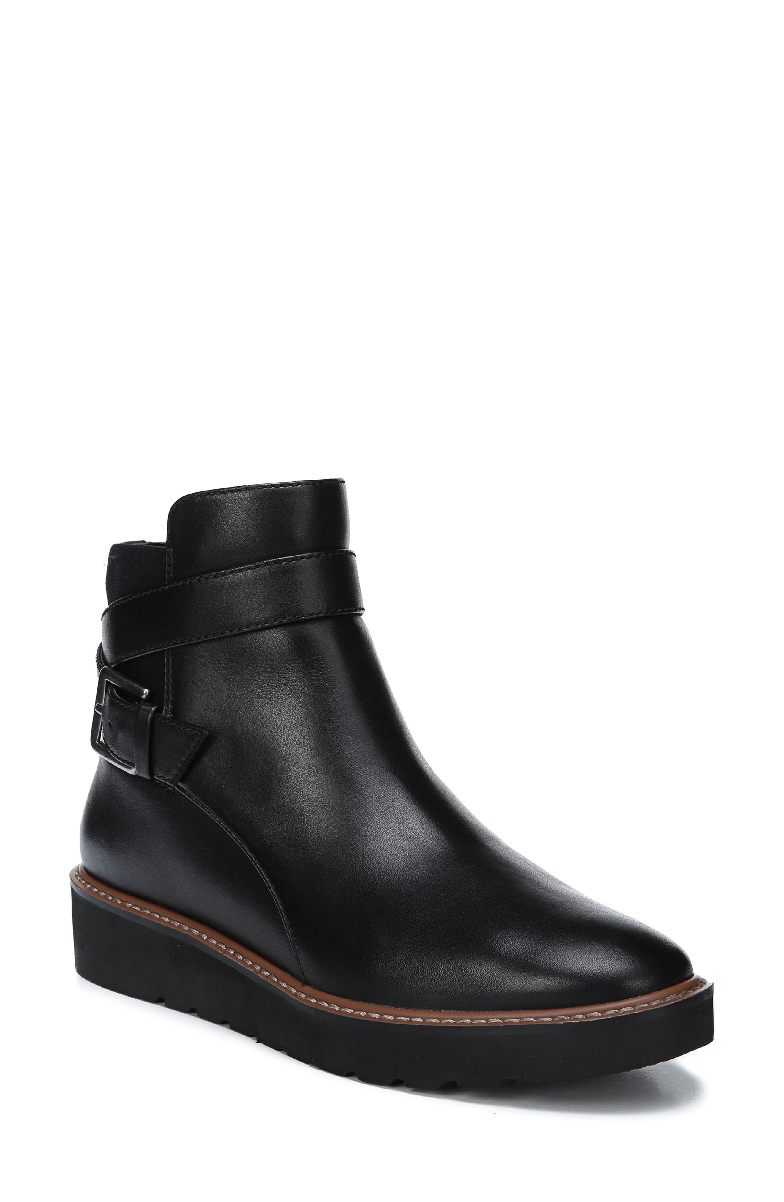 NATURALIZER,                             Aster Bootie,                             Main thumbnail 1, color,                             BLACK LEATHER