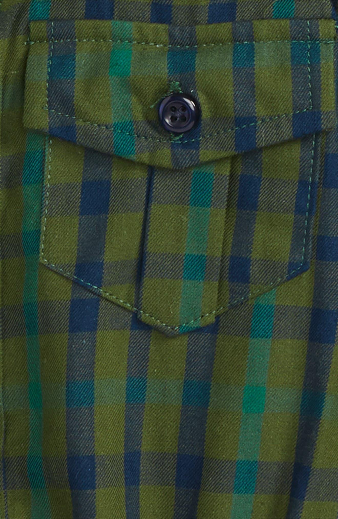 Plaid Shirtzie Bodysuit,                             Alternate thumbnail 4, color,