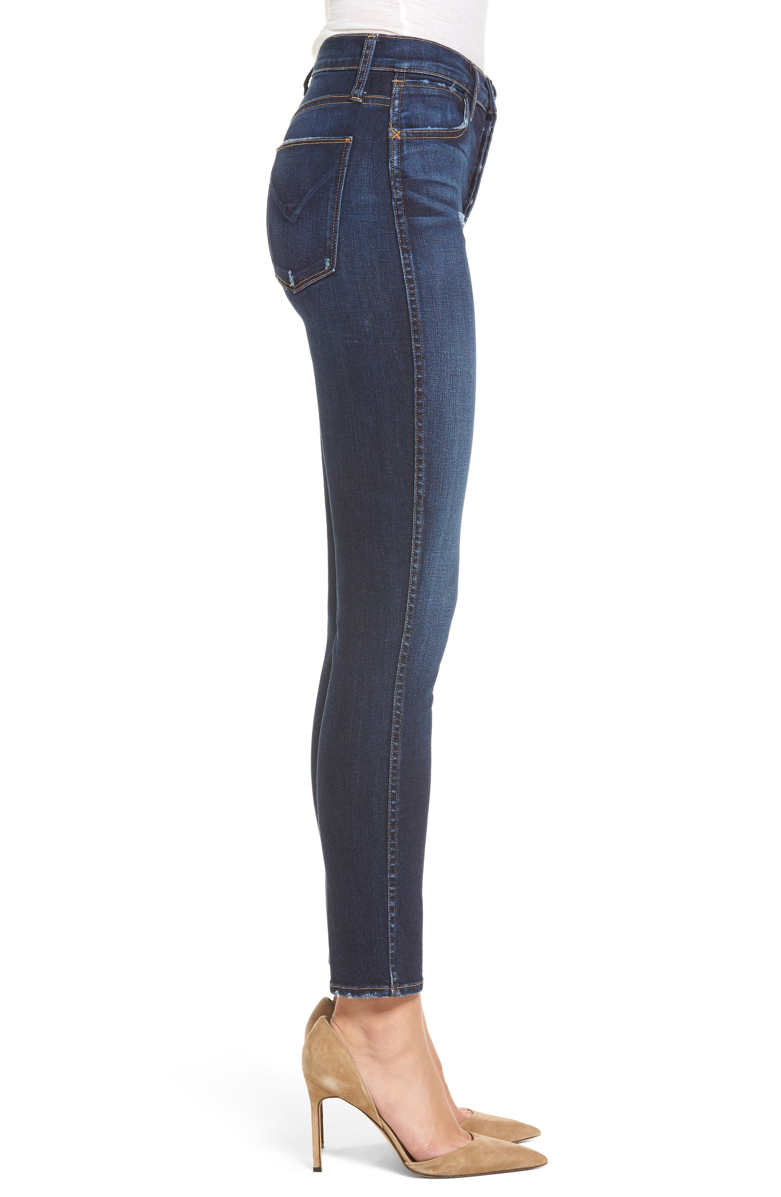 Holly High Waist Ankle Skinny Jeans,                             Alternate thumbnail 3, color,                             420