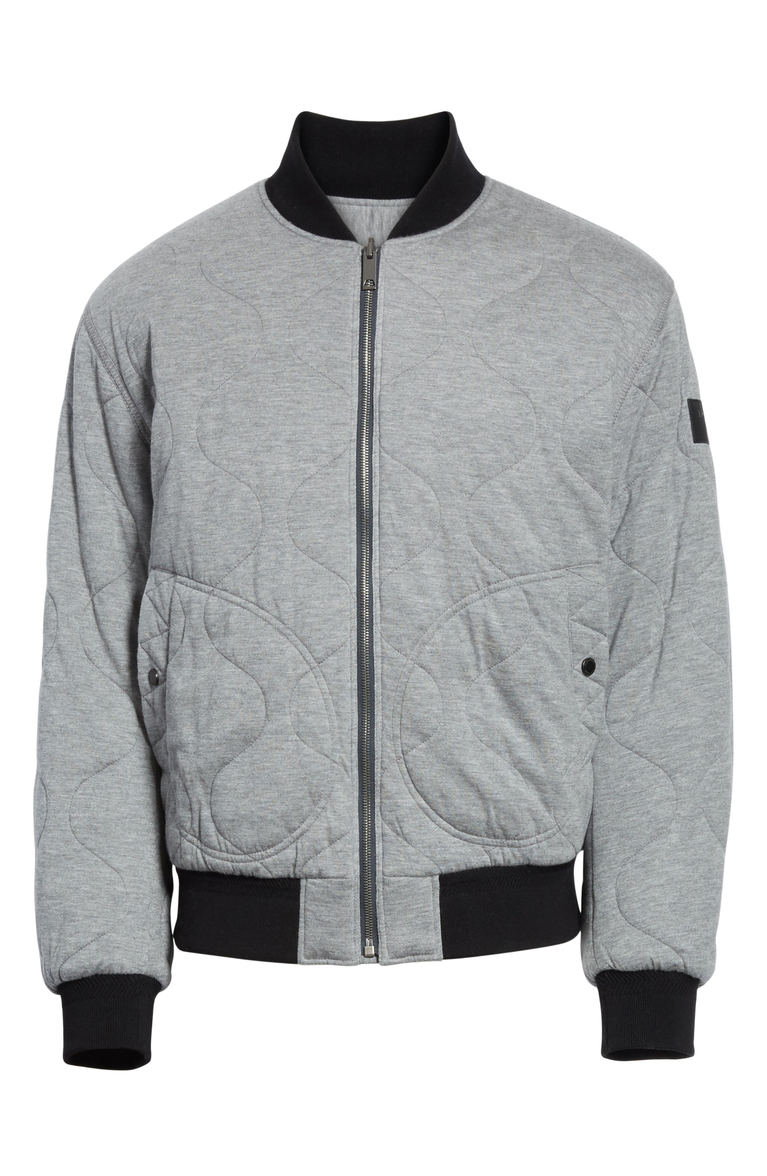 Campton Reversible Quilted Jersey Bomber Jacket,                             Alternate thumbnail 6, color,                             031
