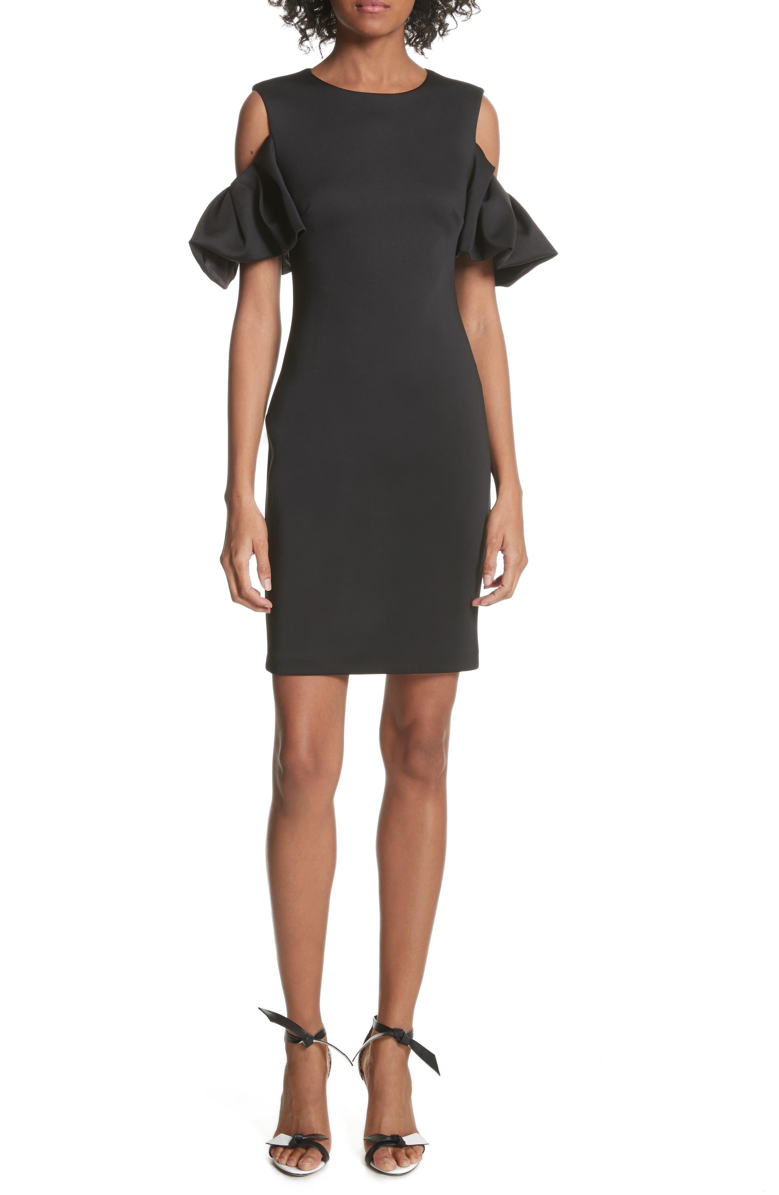 Salnie Cold Shoulder Sheath Dress,                             Main thumbnail 1, color,                             001