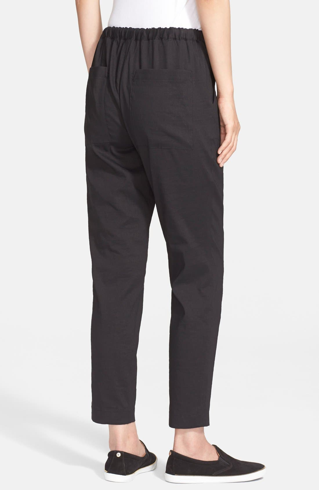 THEORY,                             'Altrino' Pants,                             Alternate thumbnail 3, color,                             001